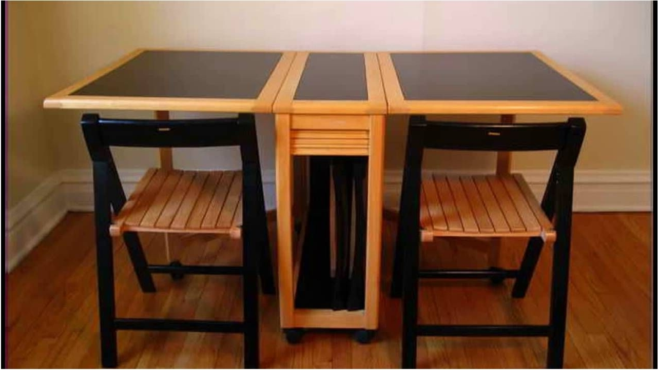 Most Popular Incredible Surprising Folding Dining Table Set 9 Living Wooden Leaf In Foldaway Dining Tables (View 19 of 25)