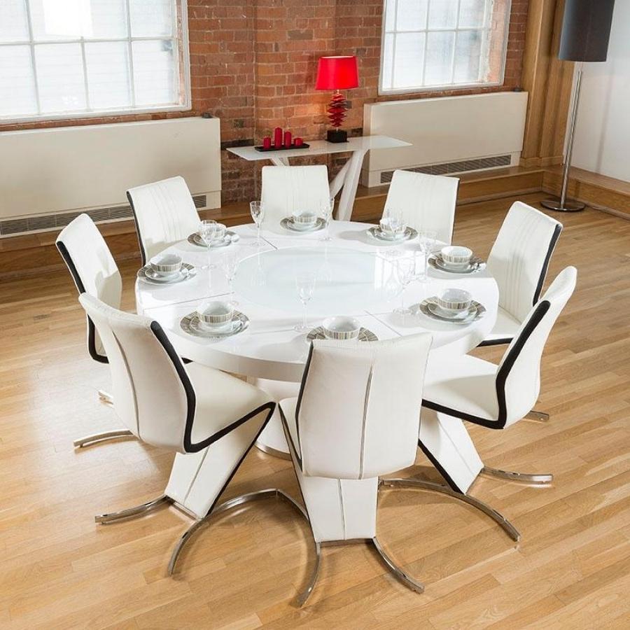 Most Popular Large Circular Dining Tables Inside Large Circular Dining Table And Chairs Dining Room Ideas – Kallekoponen (View 10 of 25)