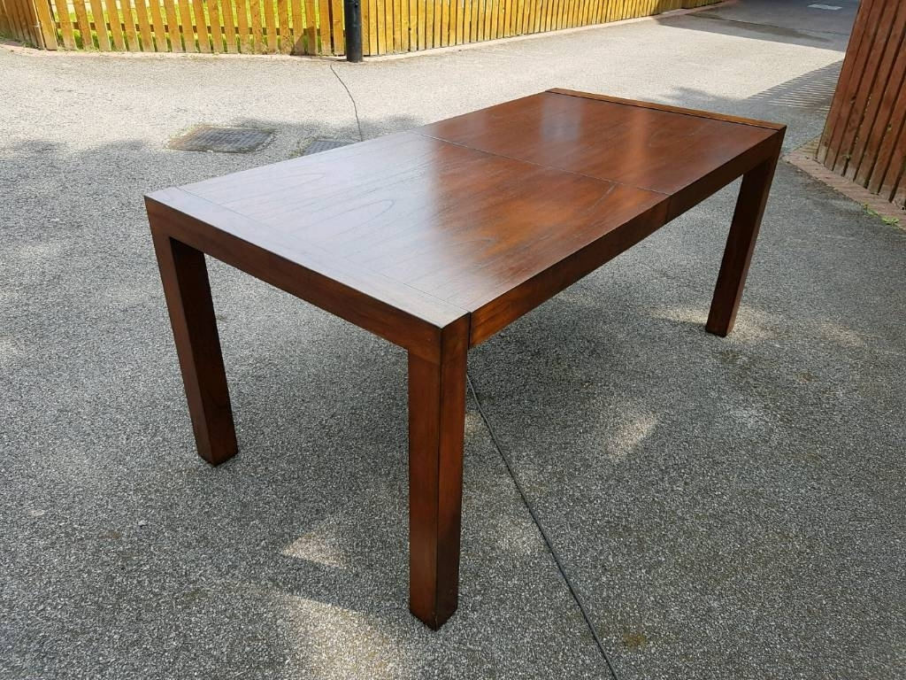 Most Popular Large Solid Dark Wood Extending Dining Table 1.8M –  (View 3 of 25)