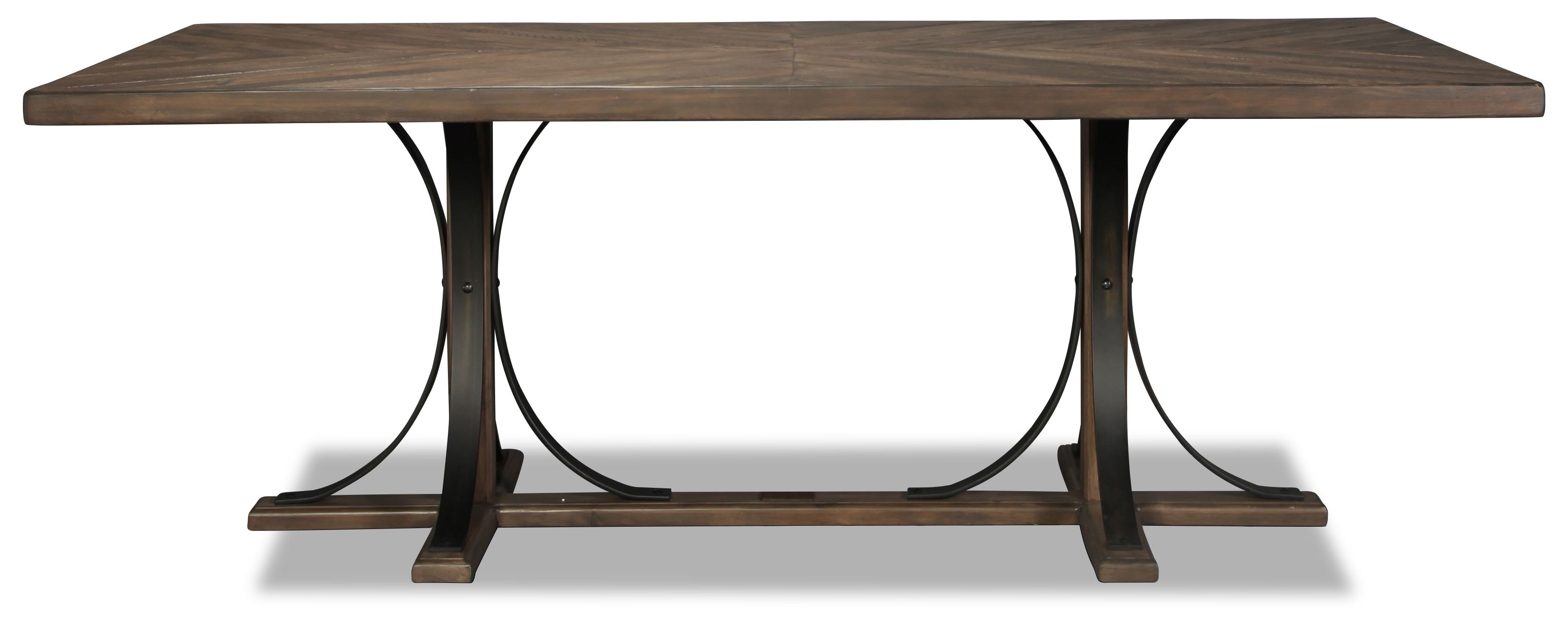 Most Popular Magnolia Home Traditional Iron Trestle Table (View 17 of 25)