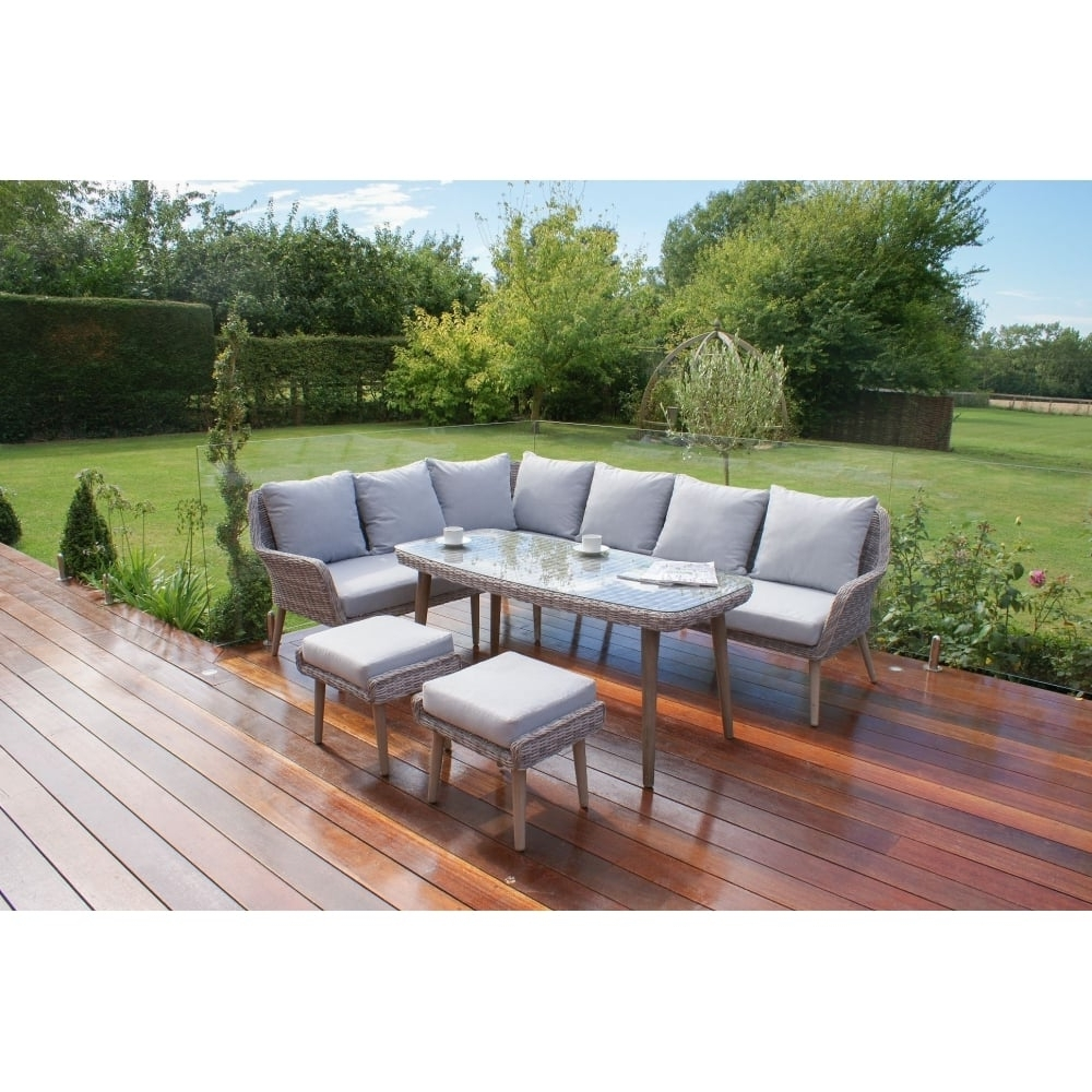 Most Popular Mazerattan Paris Large Corner Dining Set – Outdoor Living From Pertaining To Paris Dining Tables (View 7 of 25)