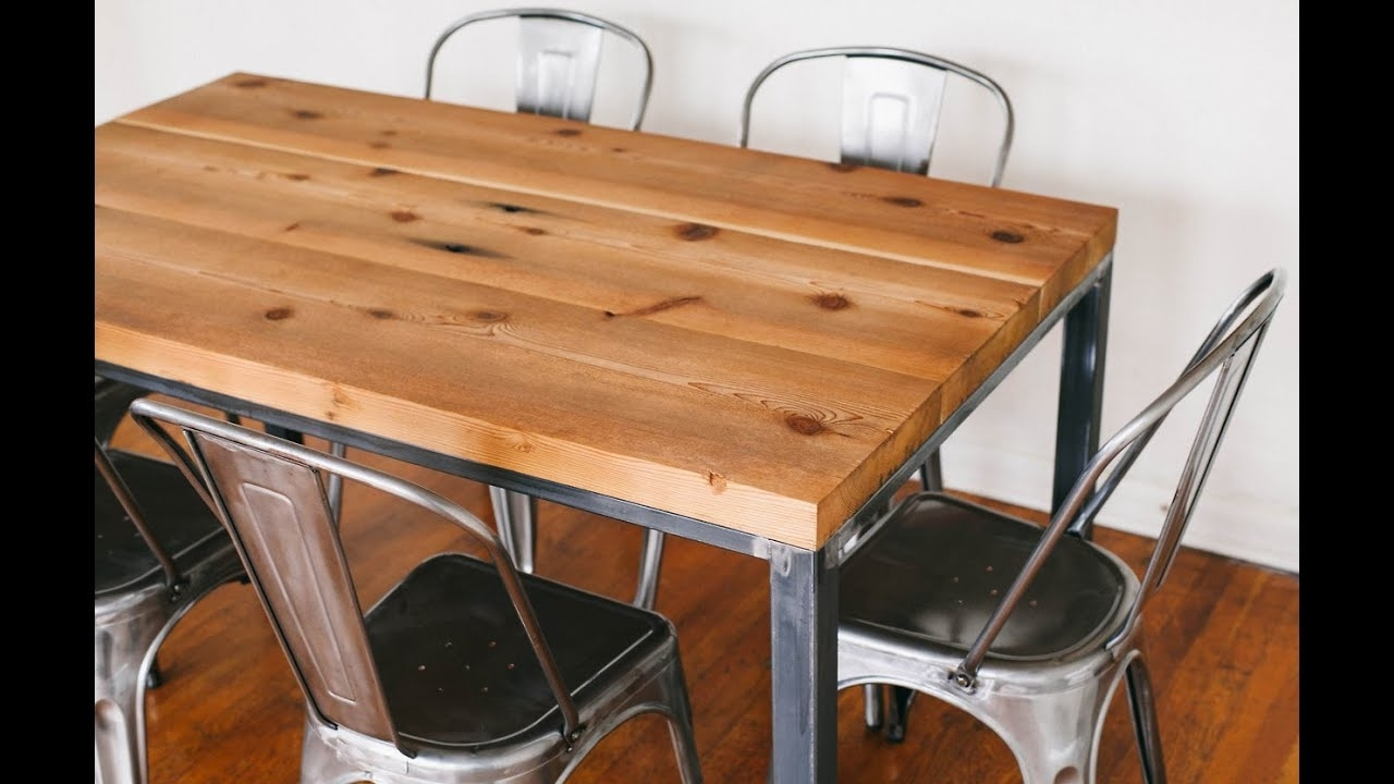 Most Popular Metal And Wood Dining Chairs~Metal And Wood Dining Table And Chairs Throughout Iron And Wood Dining Tables (View 11 of 25)