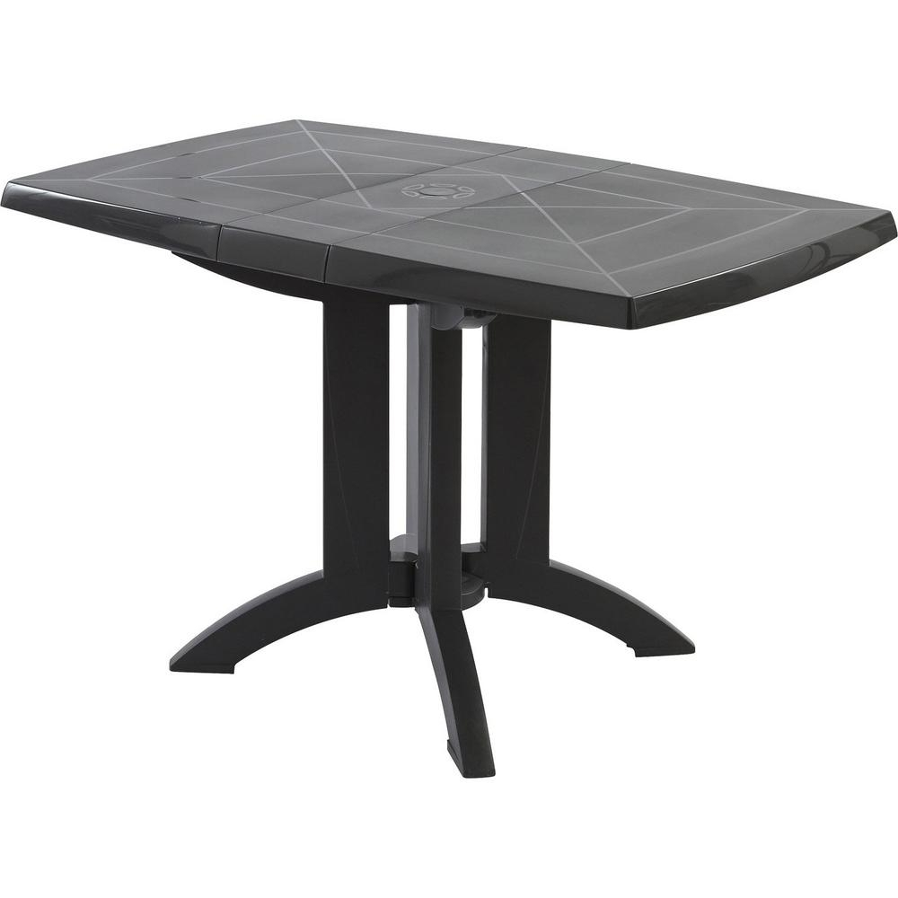 Most Popular Milton Dining Tables Pertaining To Milton Charcoal Rectangular Resin Outdoor Dining Table Xa (View 18 of 25)