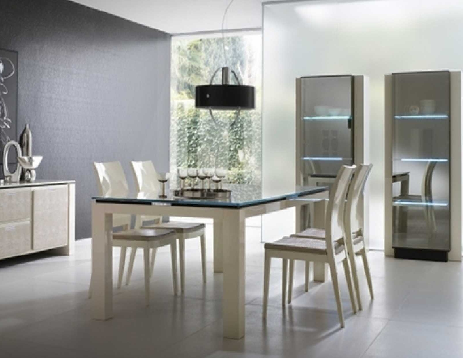 Most Popular Modern Dining Room Furniture Intended For Dining Room Modern Dining Room Bench Modern Furniture Dining White (View 20 of 25)