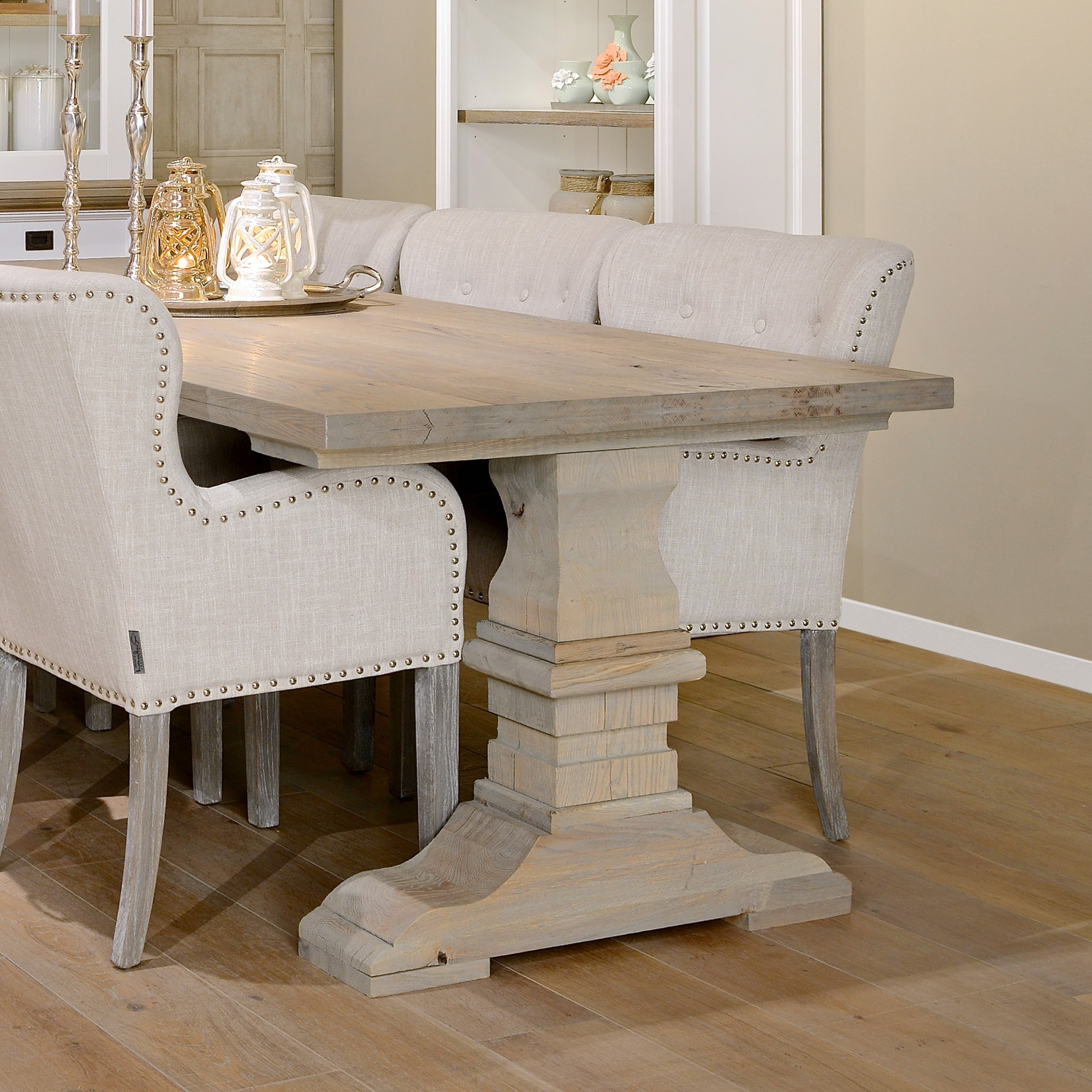 Most Popular Oak Dining Tables Intended For Castle Oak Dining Table (View 14 of 25)