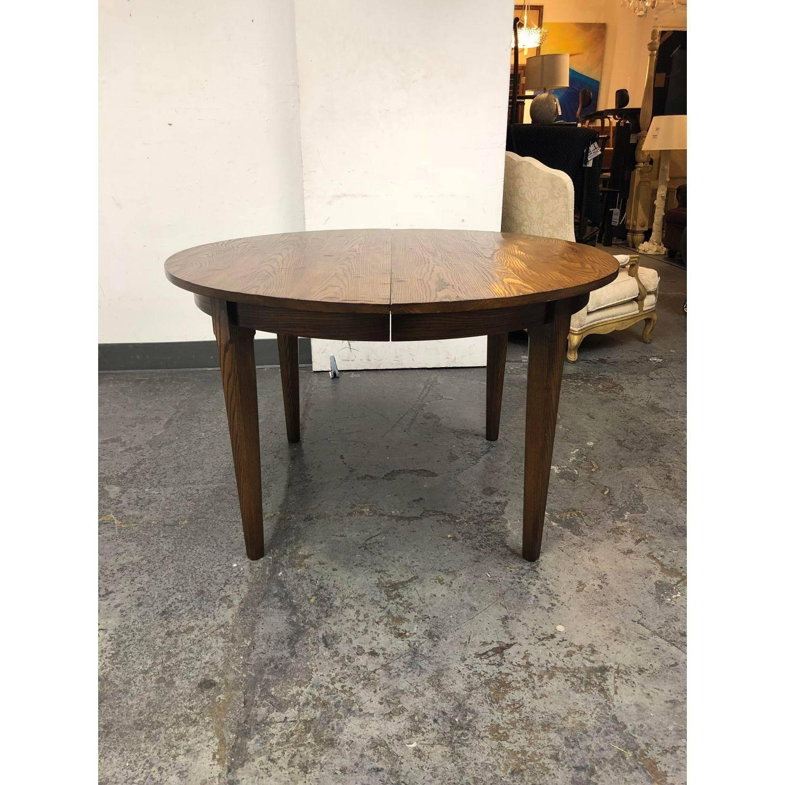 Most Popular Oak Dining Tables Regarding Yorkshire House Vermont Oak Dining Table And Four Leaves For Sale At (View 15 of 25)