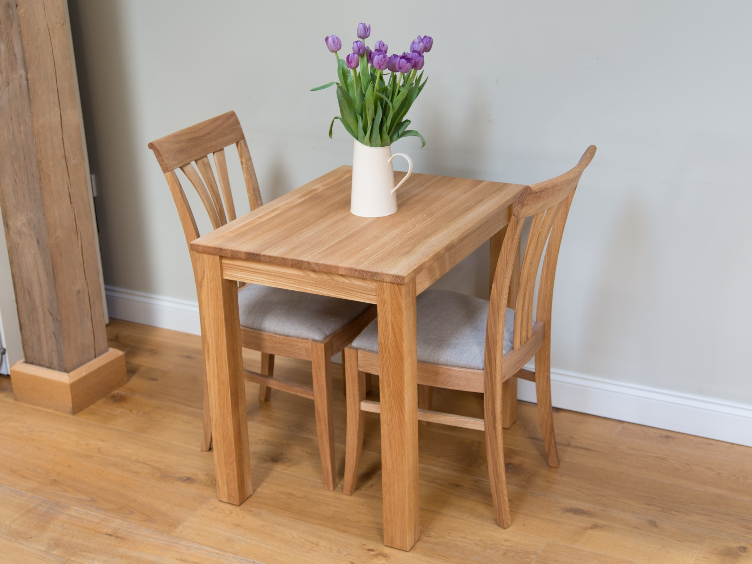 Most Popular Oak Kitchen Table Chair Dining Set From Top Furniture, At A Table Throughout Dining Tables For Two (View 10 of 25)