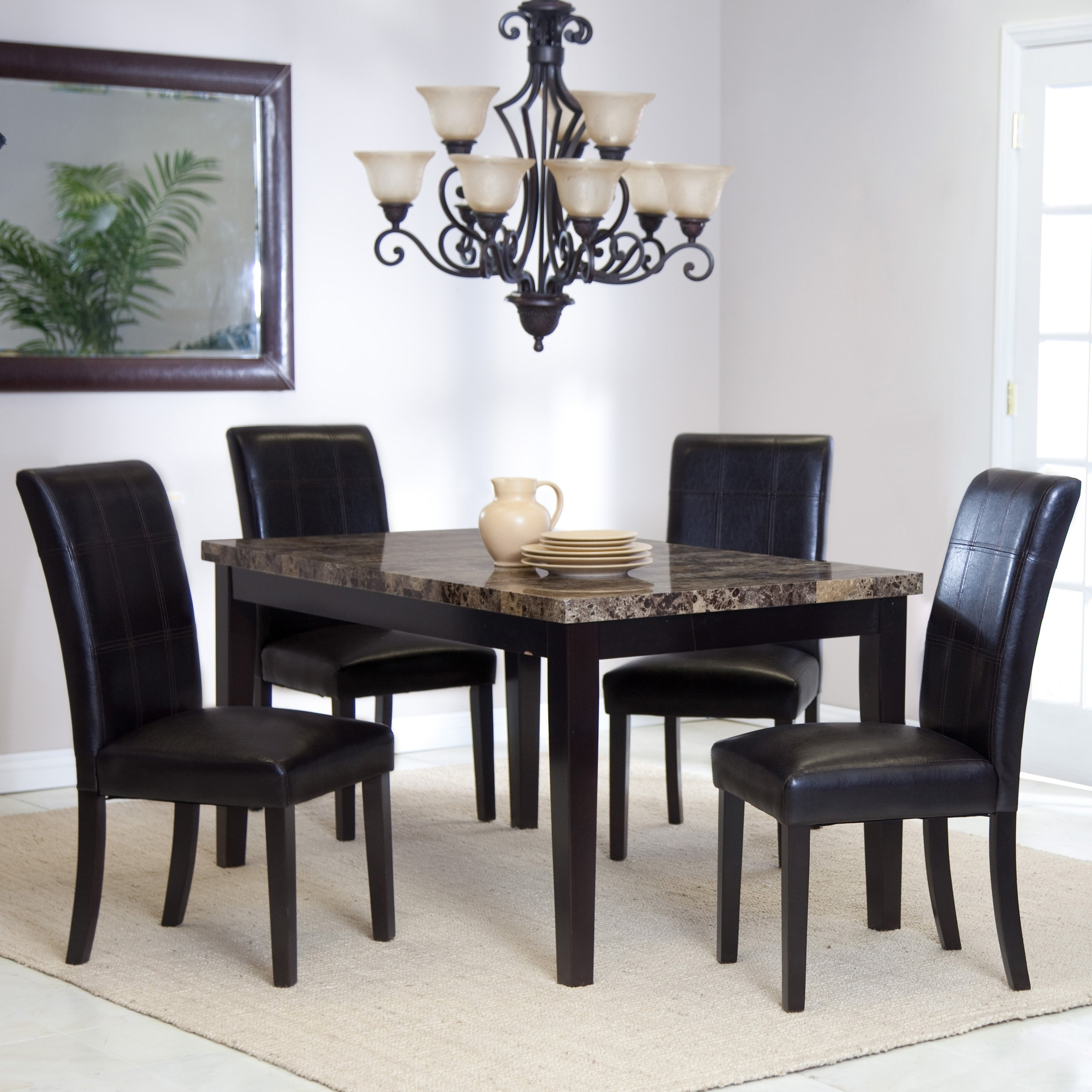 Most Popular Palazzo 5 Piece Dining Set (View 16 of 25)