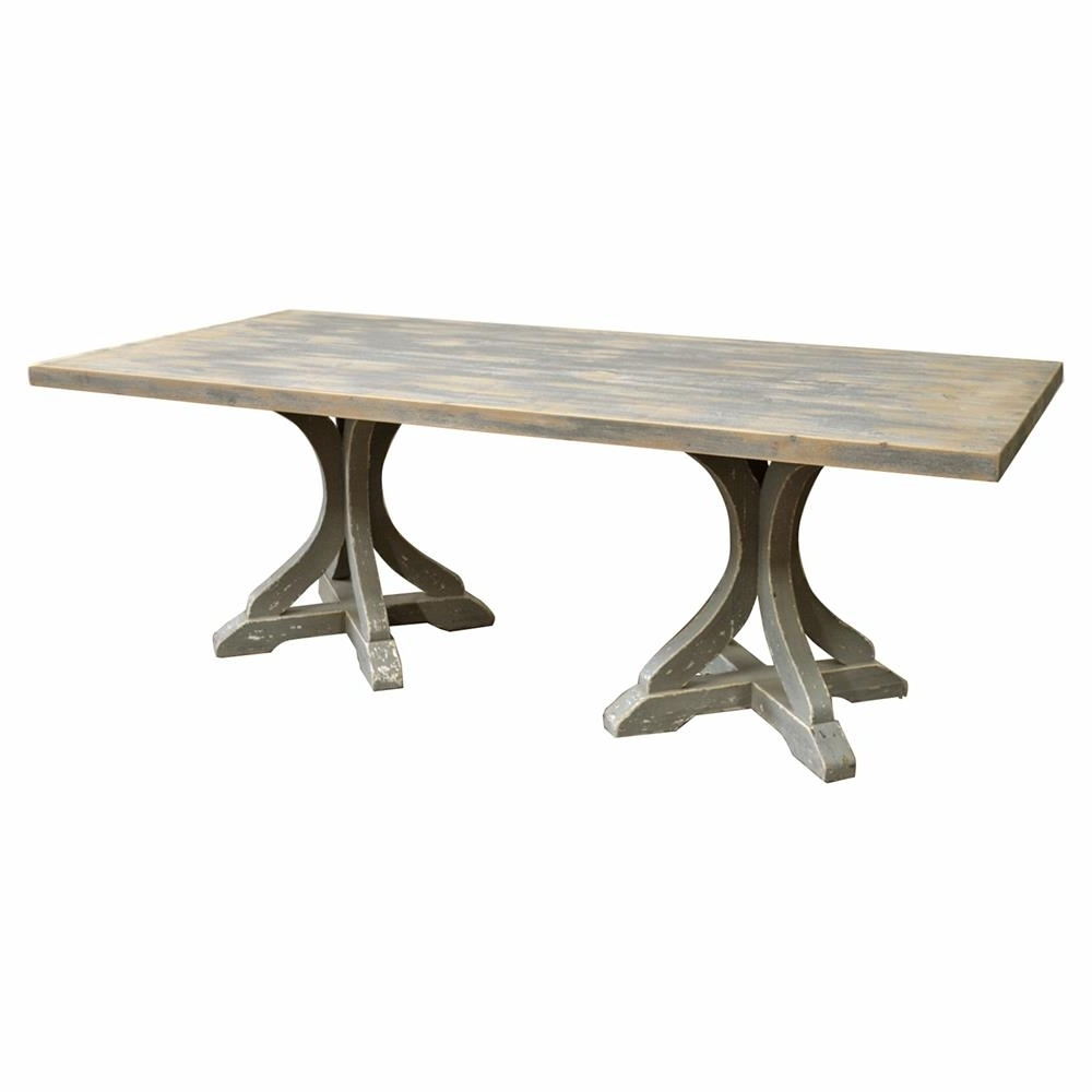 Most Popular Palazzo Rectangle Dining Tables Intended For Rivoli French Country Rectangular Double Pedestal Dining Table (View 13 of 25)