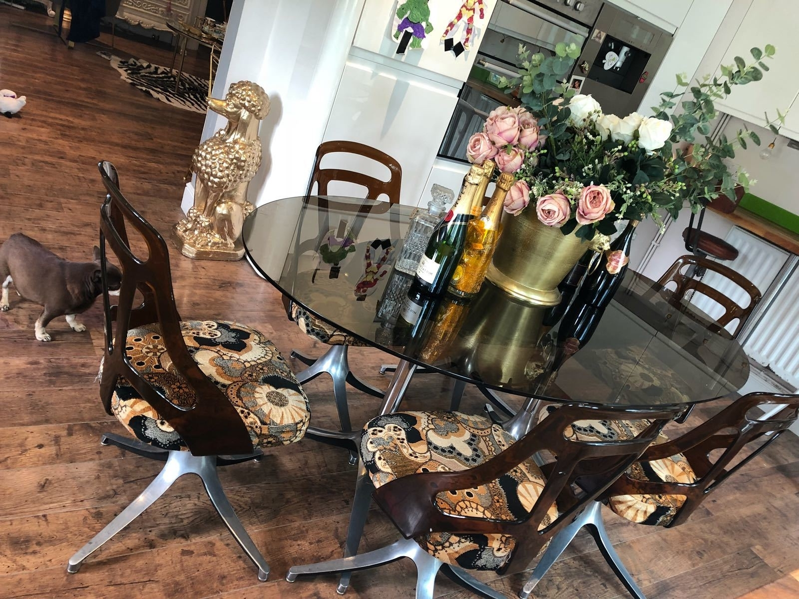 Most Popular Rare Vintage Retro Mid Century Lucite Smoked Glass Dining Table And With Retro Glass Dining Tables And Chairs (View 11 of 25)