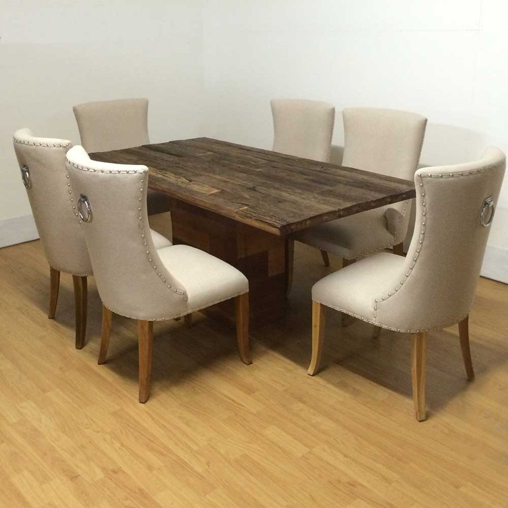 Most Popular Reclaimed Railway Wood Dining Table Intended For Railway Dining Tables (View 11 of 25)