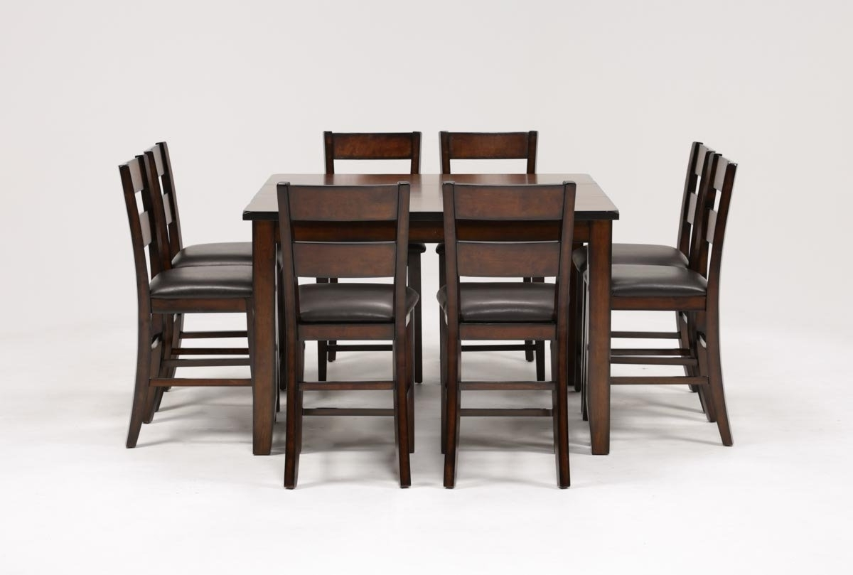 Most Popular Rocco 7 Piece Extension Dining Sets With Rocco 9 Piece Extension Counter Set (View 18 of 25)