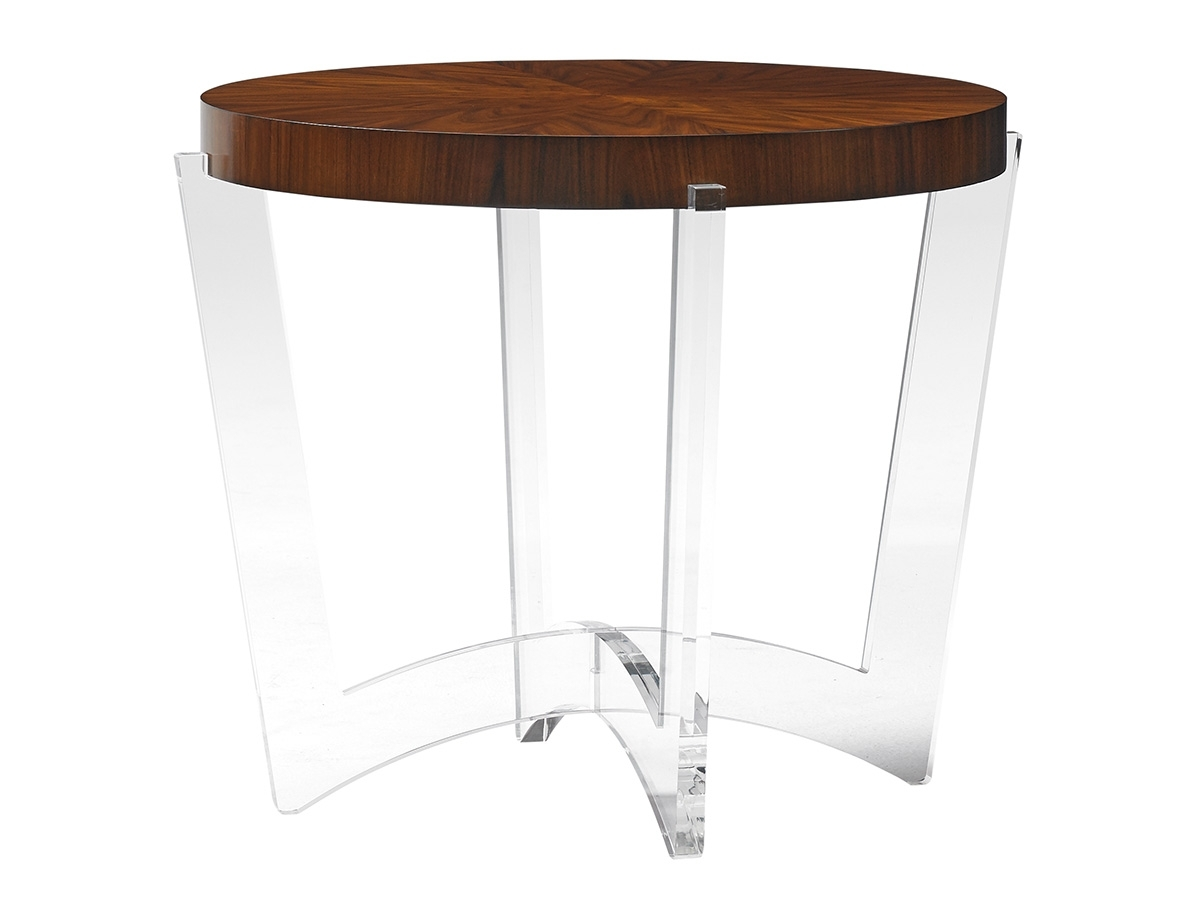 Most Popular Round Acrylic Dining Tables Intended For Take Five Hudson Round End Table (View 14 of 25)