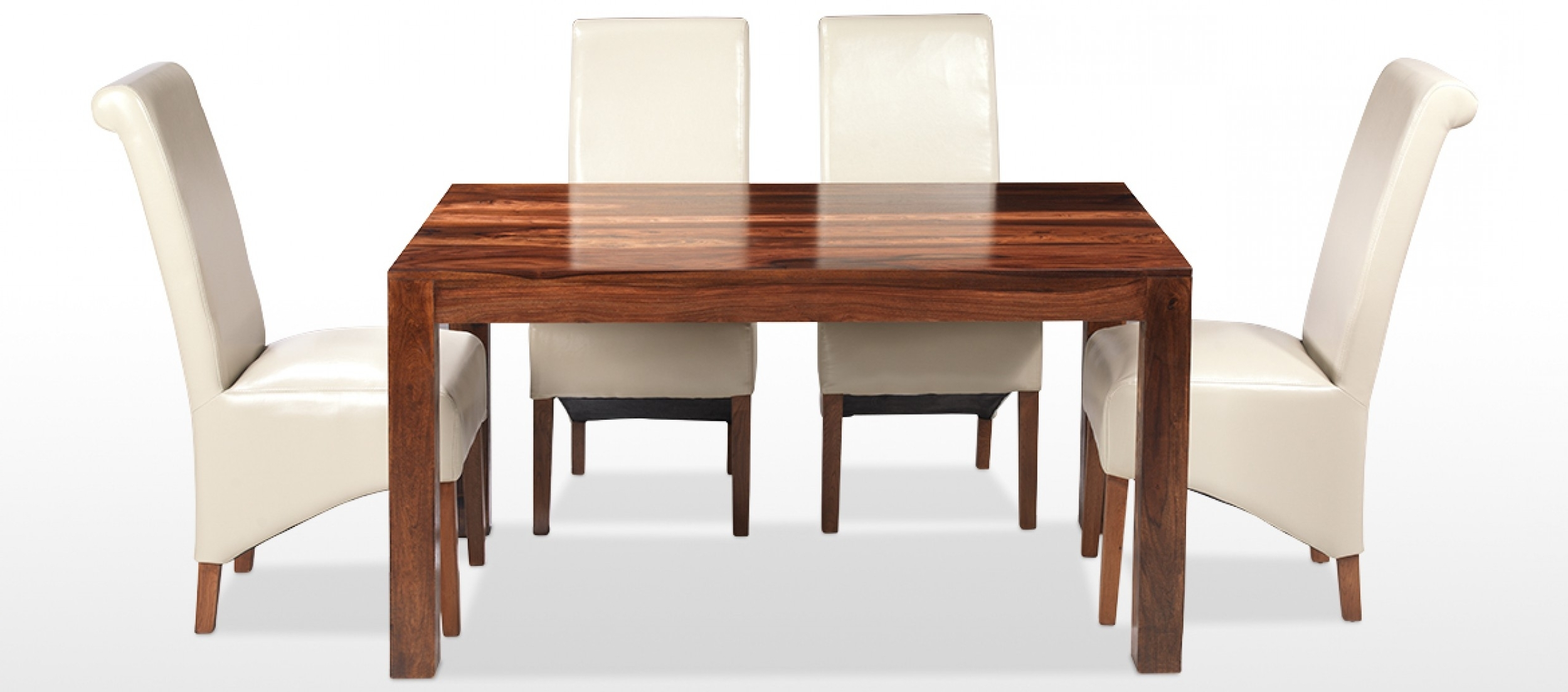 Most Popular Sheesham Dining Tables And 4 Chairs Regarding Cube Sheesham 140 Cm Dining Table And 4 Chairs (View 7 of 25)