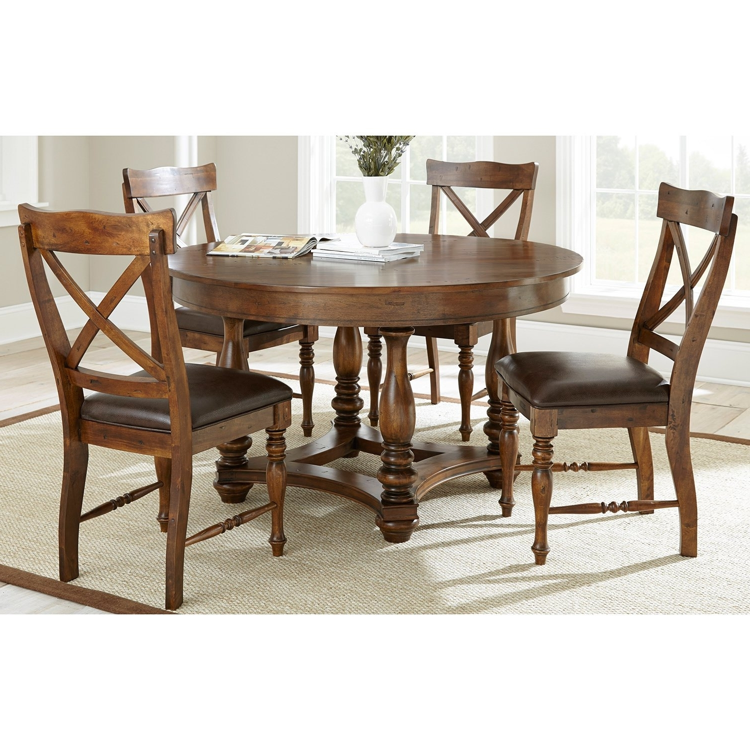 Most Popular Shop Wyatt Old World 5 Piece Dining Setgreyson Living – Free Intended For Wyatt Dining Tables (View 13 of 25)