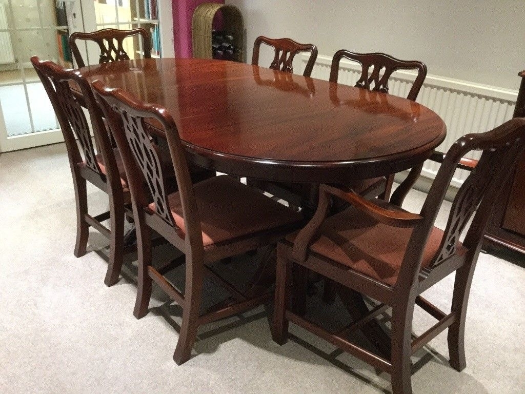 Most Popular Solid Mahogany Extending Dining Table And 6 Chairs (View 16 of 25)