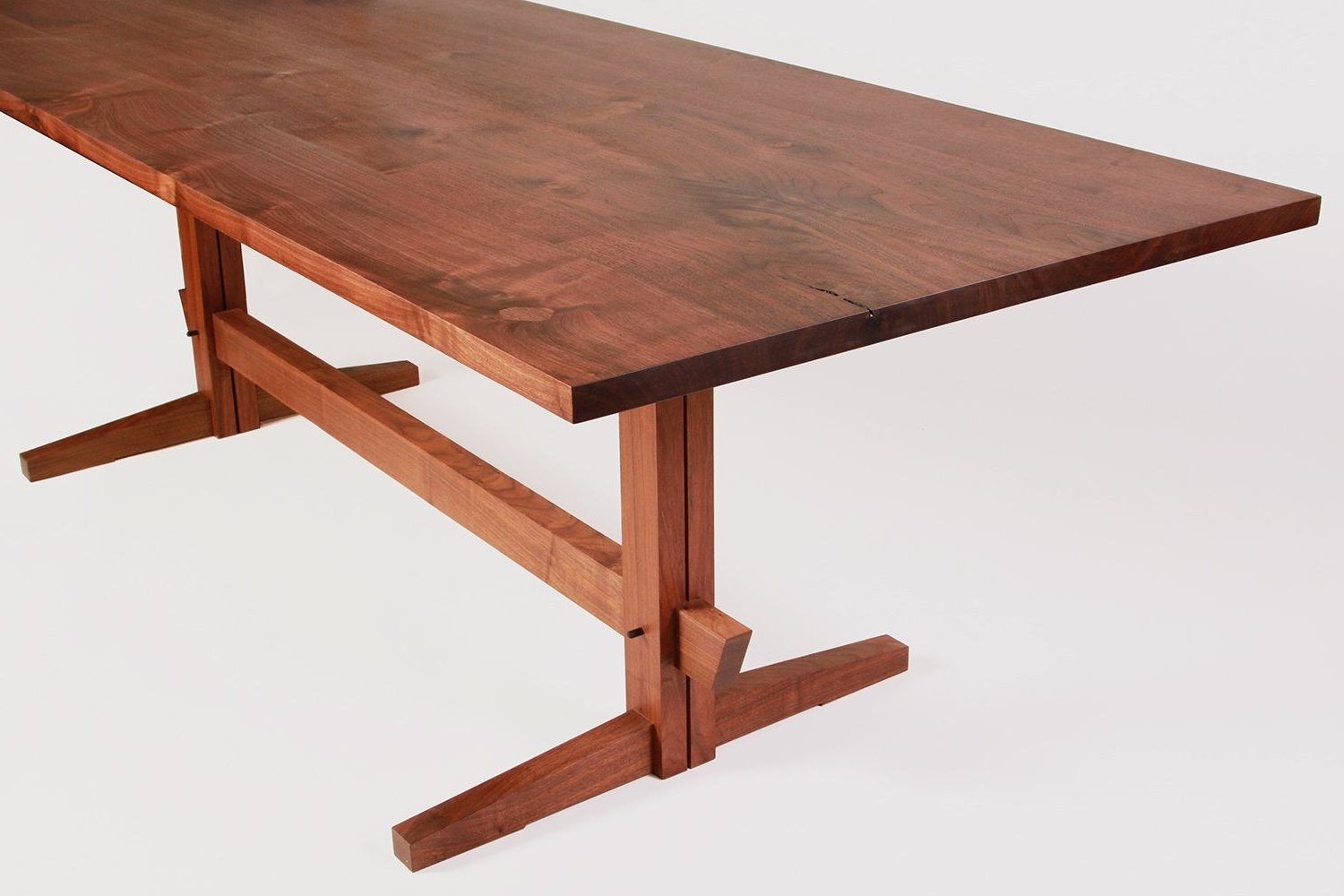 Most Popular Trestle Dining Table New York Heartwoods (View 9 of 25)