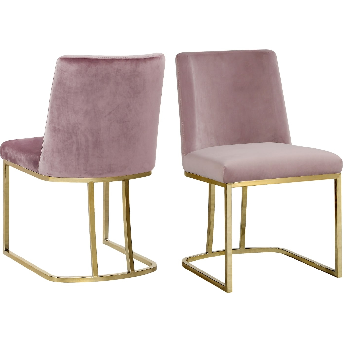 Most Popular Velvet Dining Chairs Pertaining To Meridian Heidi Pink Velvet Dining Chair – Set Of 2 & Reviews (View 10 of 25)