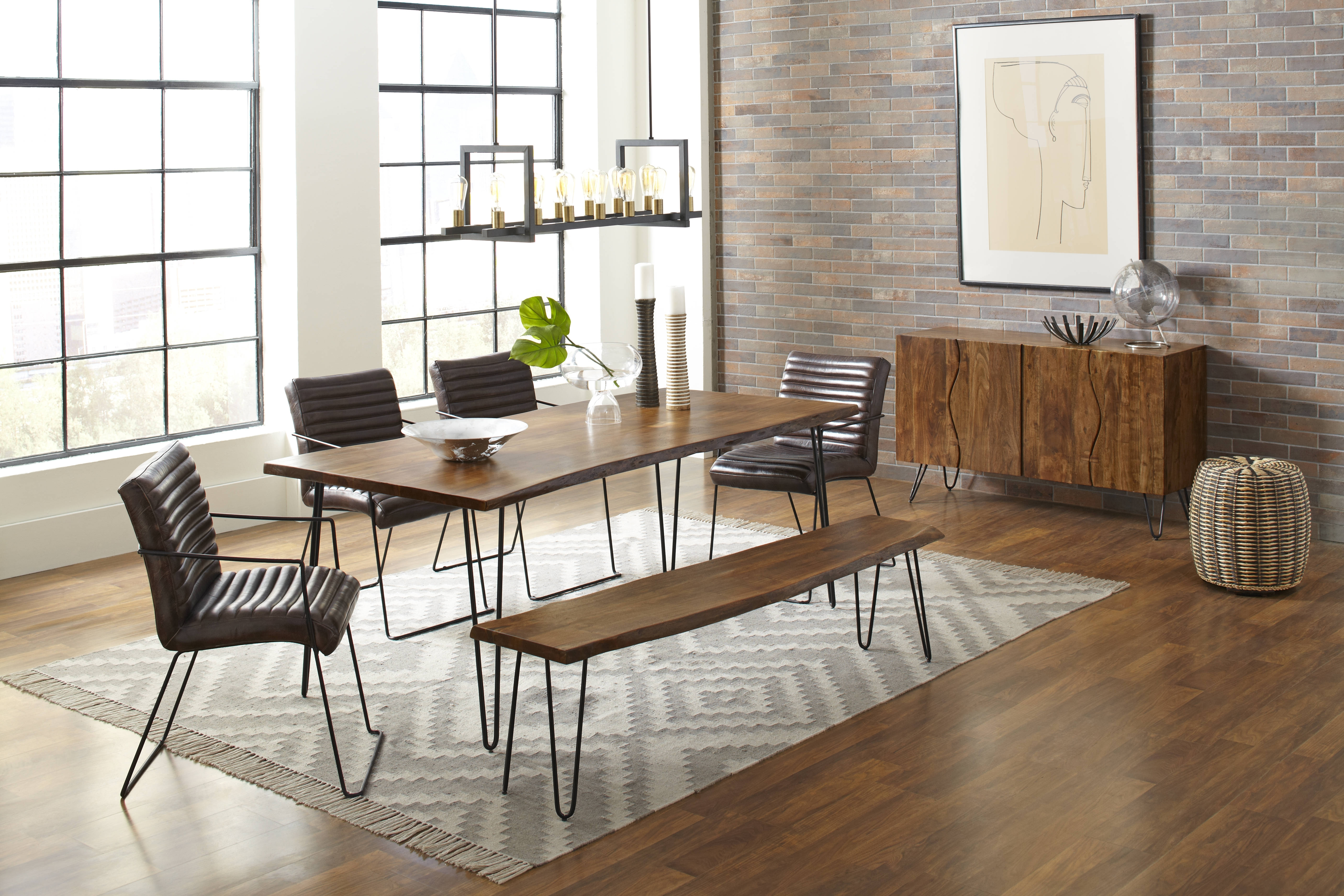 Most Popular Wyatt Dining Tables Intended For Jofran Furniture Natures Edge 6Pc Dining Room Set With Wyatt Dining (View 14 of 25)