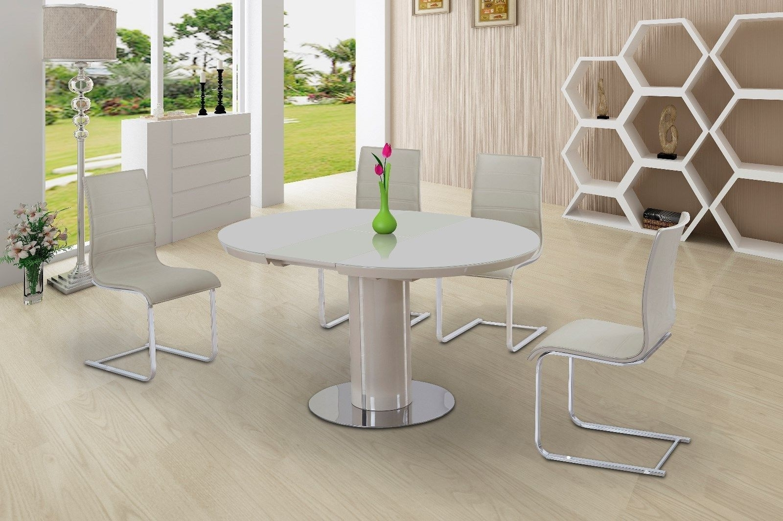 Most Popular Wynn High Gloss Back Dining Chairs Only – Cream For High Gloss White Dining Chairs (View 3 of 25)