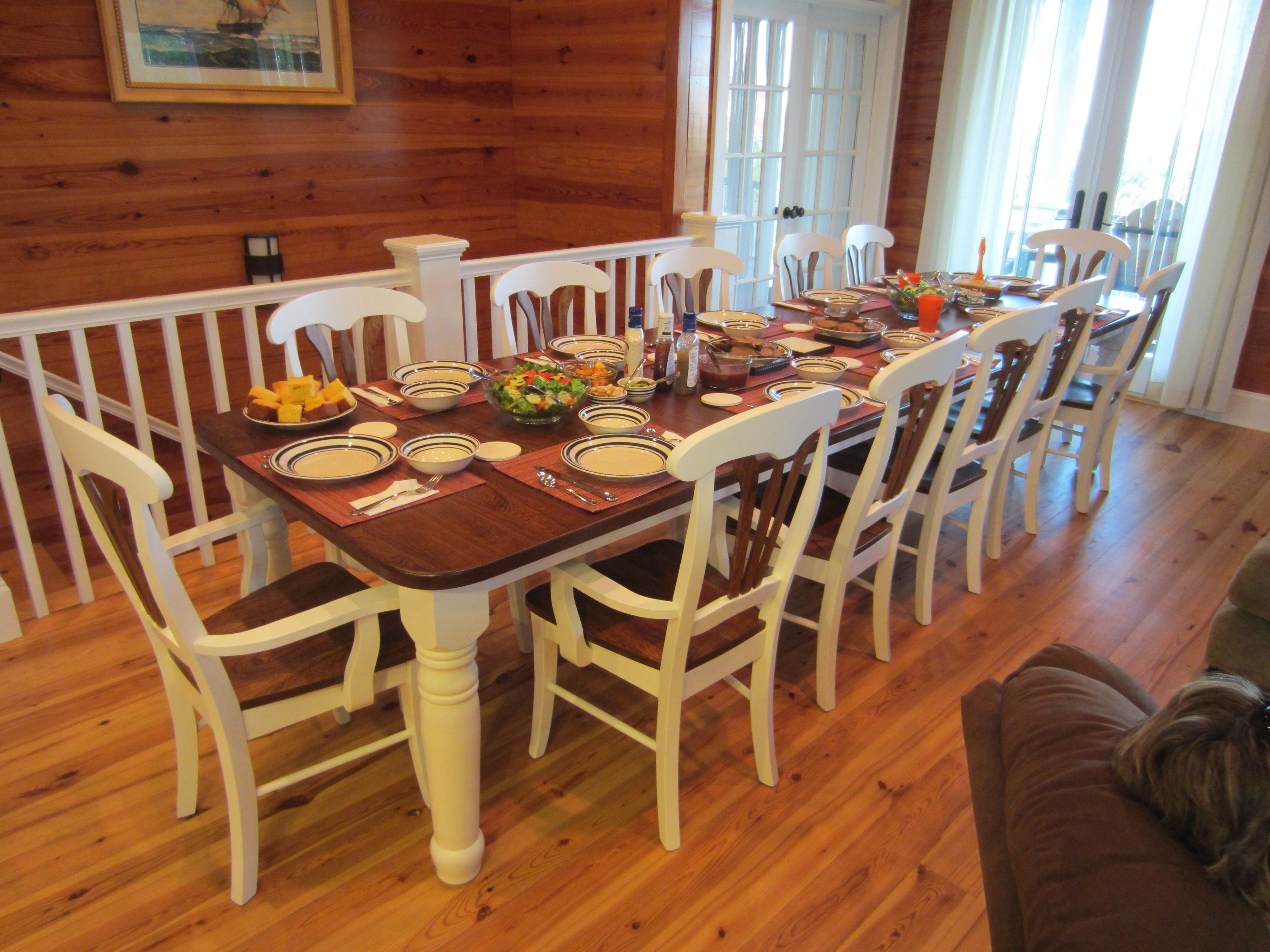 Most Recent 10 Seat Dining Tables And Chairs For Dining Room Tables That Seat  (View 18 of 25)