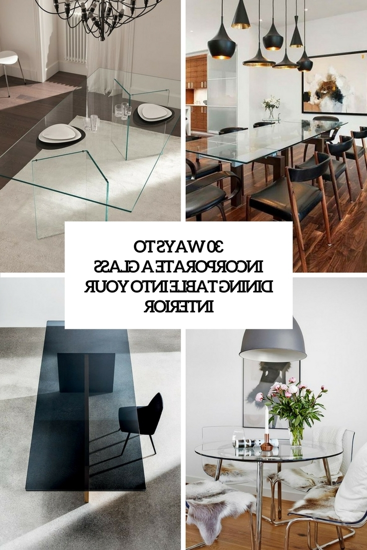 Most Recent 30 Ways To Incorporate A Glass Dining Table Into Your Interior Inside Curved Glass Dining Tables (View 16 of 25)