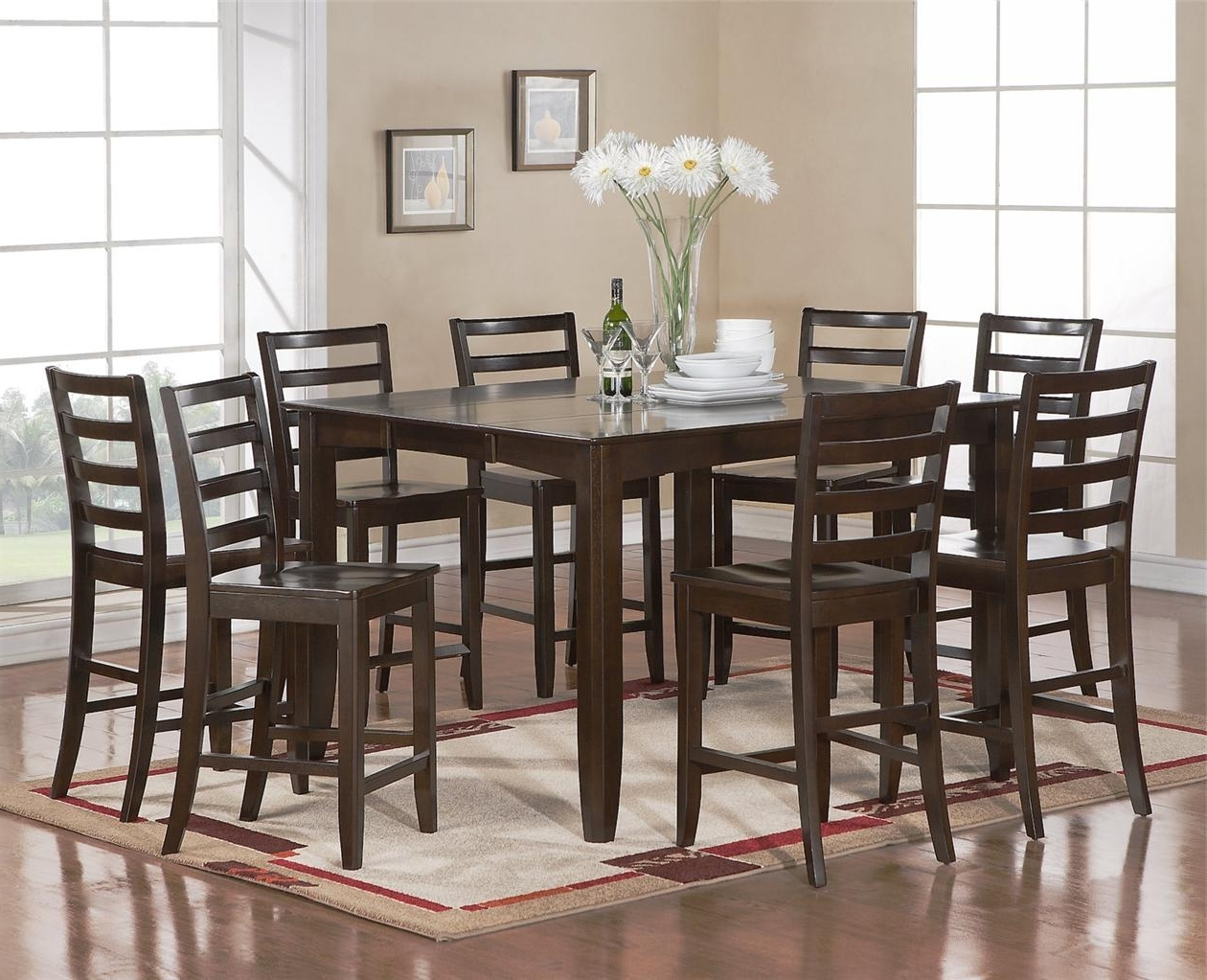 Most Recent 8 Chairs Dining Sets Throughout 8 Chair Dining Room Set Standard Dining Chair Dimensions (Gallery 4 of 25)