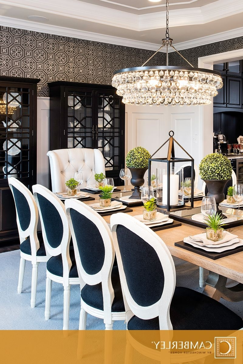 Most Recent A Supremely Elegant Crystal Chandelier Hangs Above The Hamilton Throughout Hamilton Dining Tables (Gallery 23 of 25)