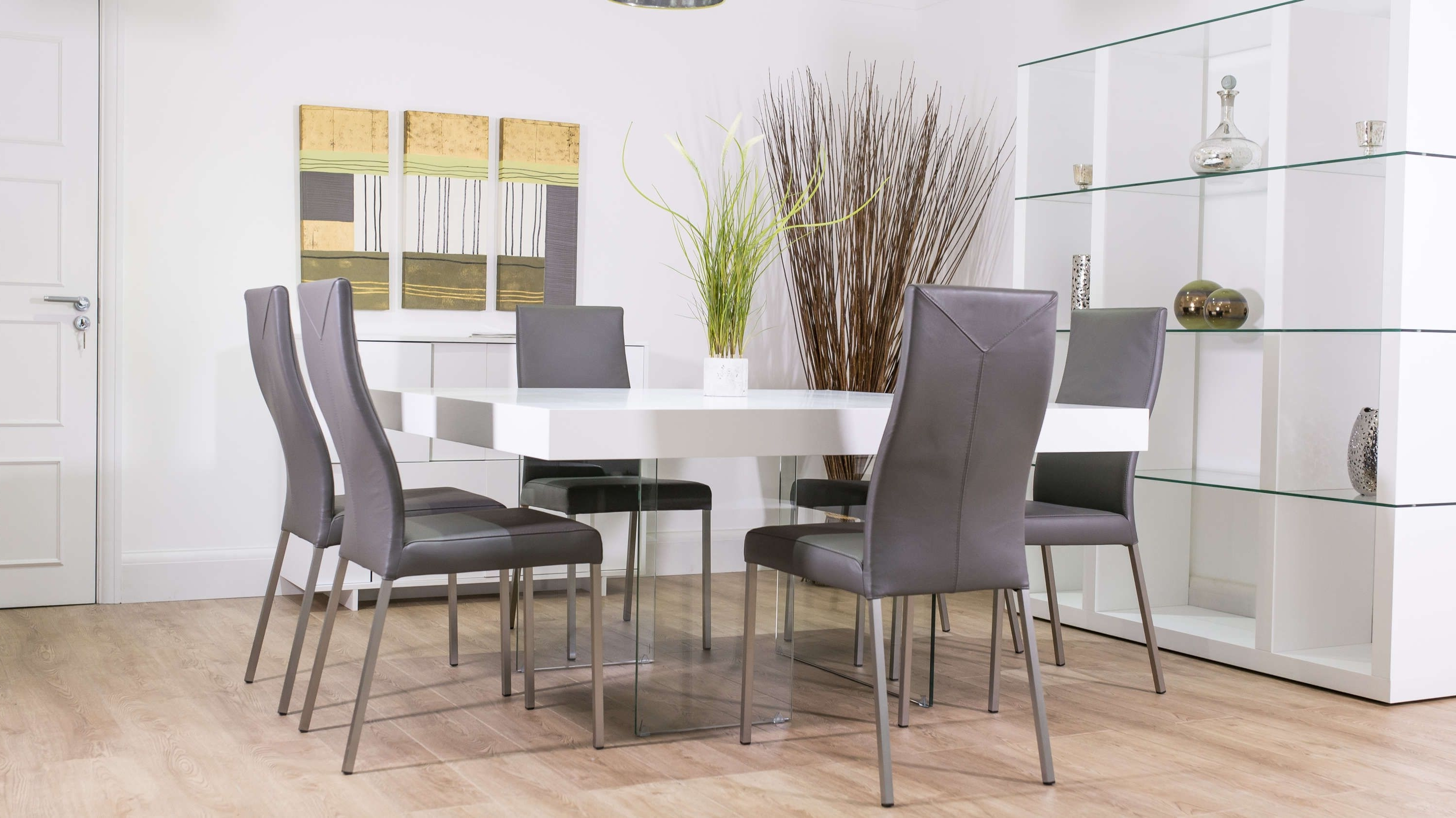 Most Recent Aria White Oak And Glass Square Dining Table (View 6 of 25)