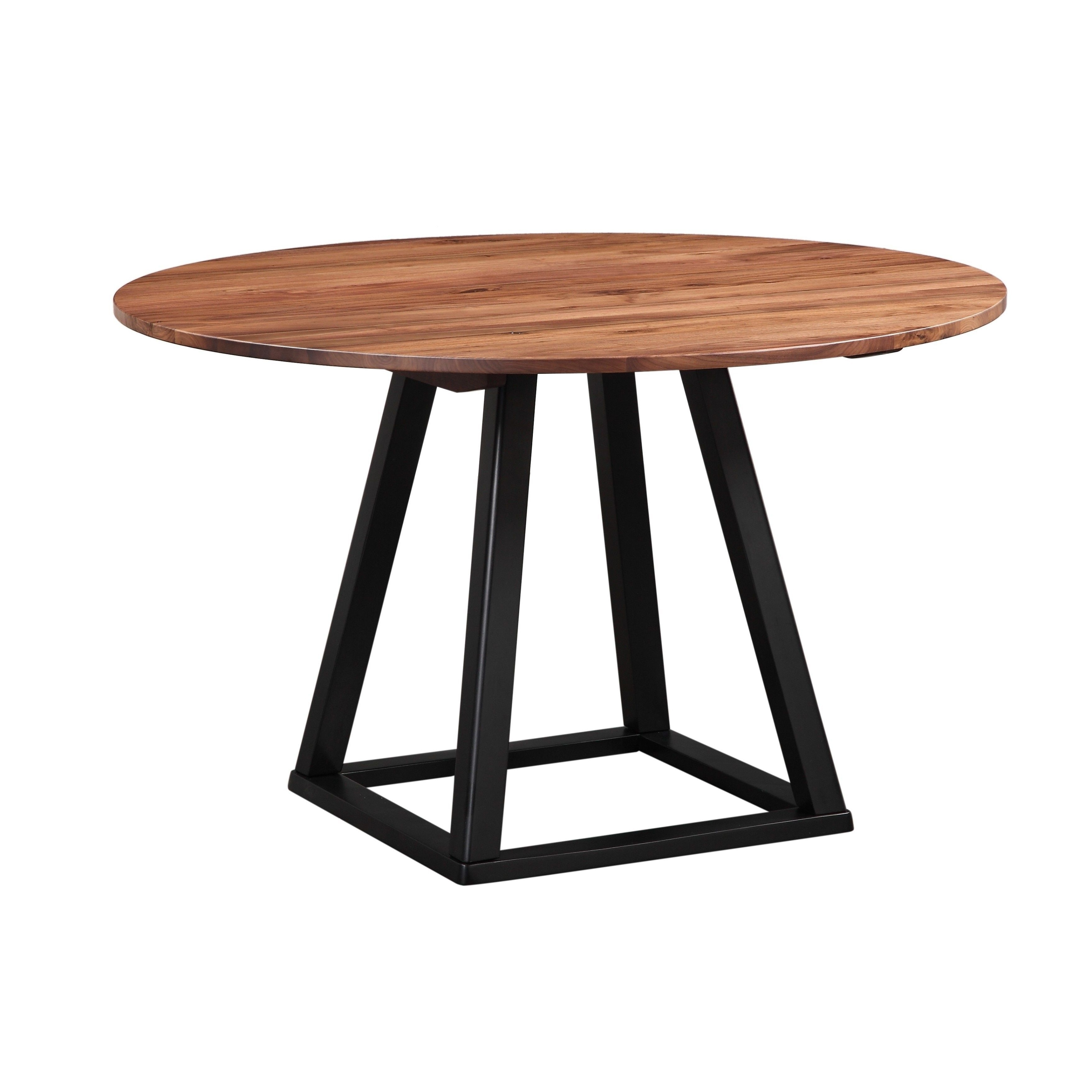 Most Recent Aurelle Home Rustic Craftsman 48 Inch Round Dining Table (View 17 of 25)