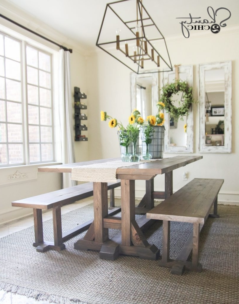 Most Recent Barn House Dining Tables With Regard To Diy Pottery Barn Inspired Dining Table For $100 – Shanty 2 Chic (View 4 of 25)