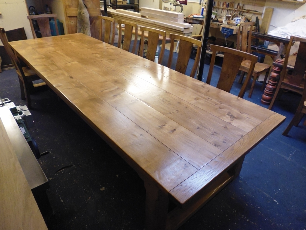 Most Recent Big Dining Tables For Sale Intended For Large Oak Dining Table Big Oak Dining Table For Wood Dining Table (View 9 of 25)
