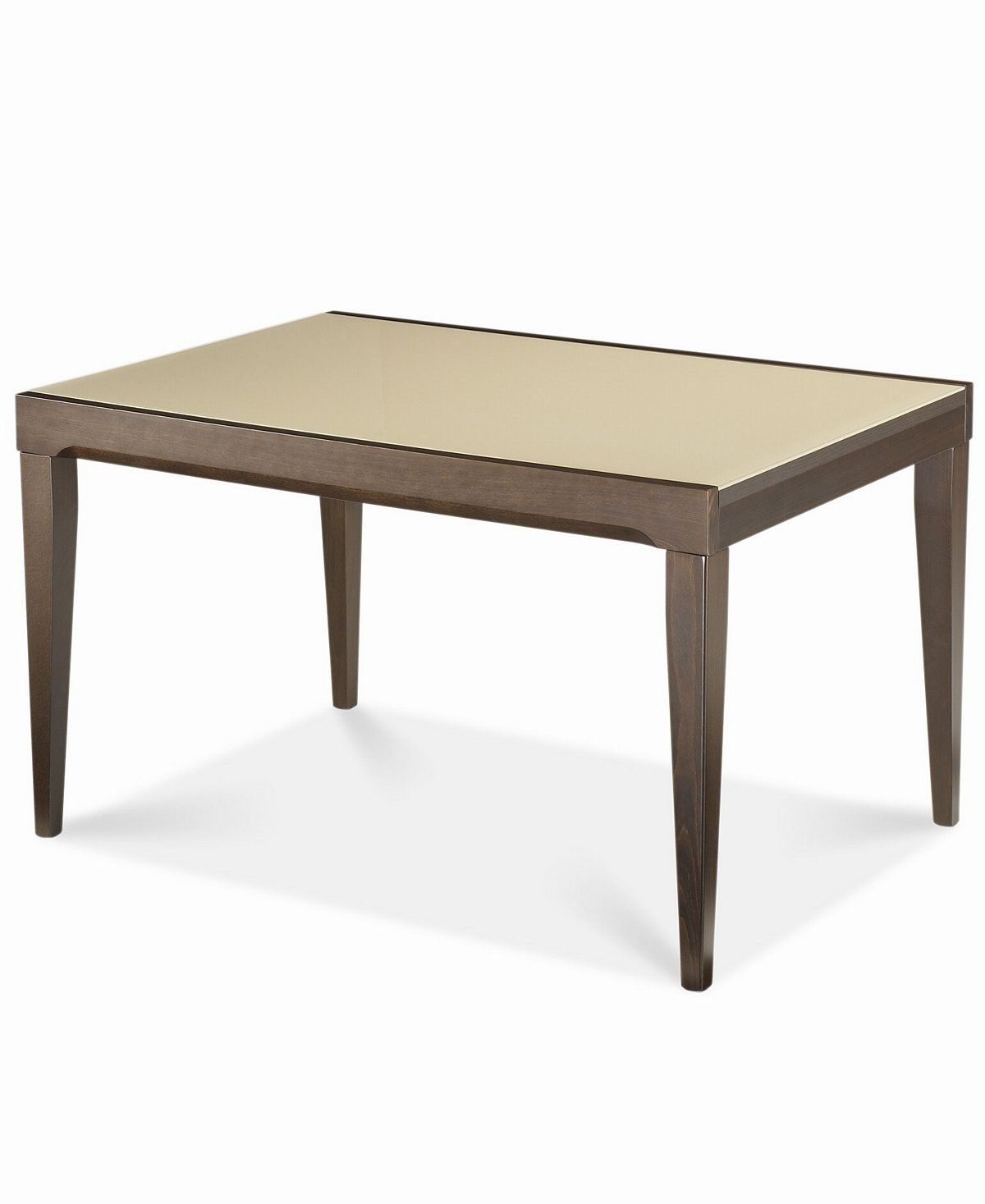 Most Recent Café Latte Glass Top Expandable Dining Table At Macy's. $ (View 18 of 25)