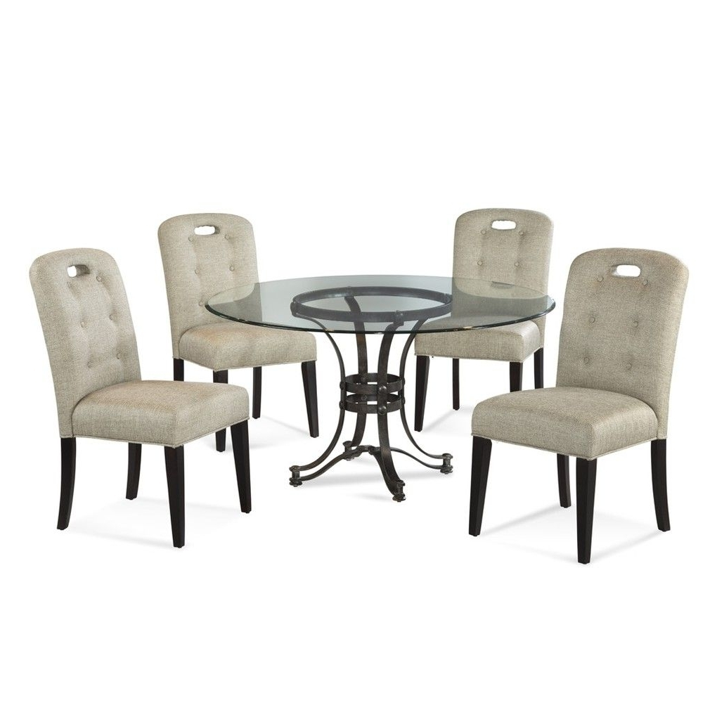 Most Recent Candice Ii 5 Piece Round Dining Sets With Slat Back Side Chairs Regarding Tempe Round Dining Table (View 17 of 25)
