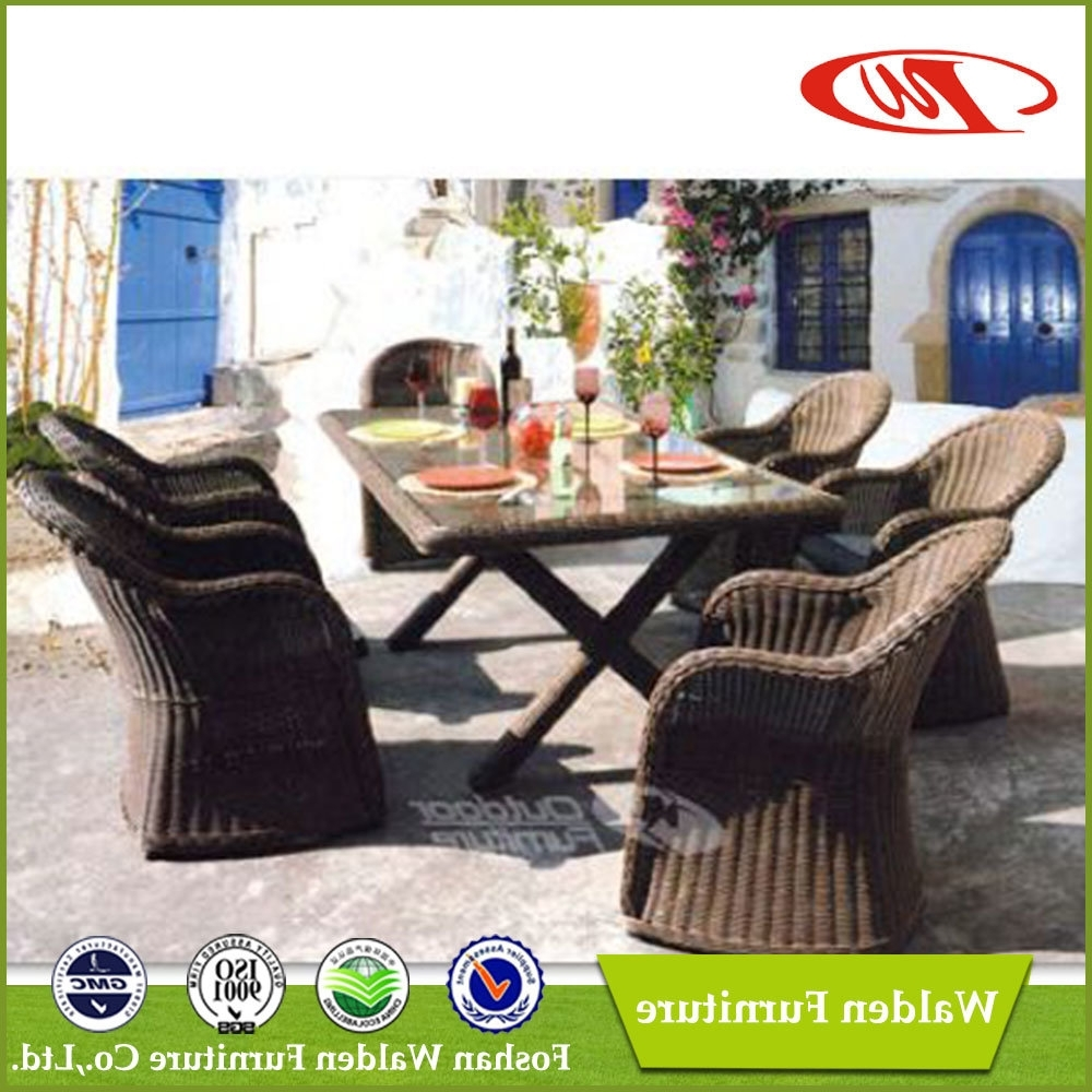 Most Recent China Luxury Rattan Garden Dining Chair And Table (Dh 6072) – China Within Walden Extension Dining Tables (View 10 of 25)