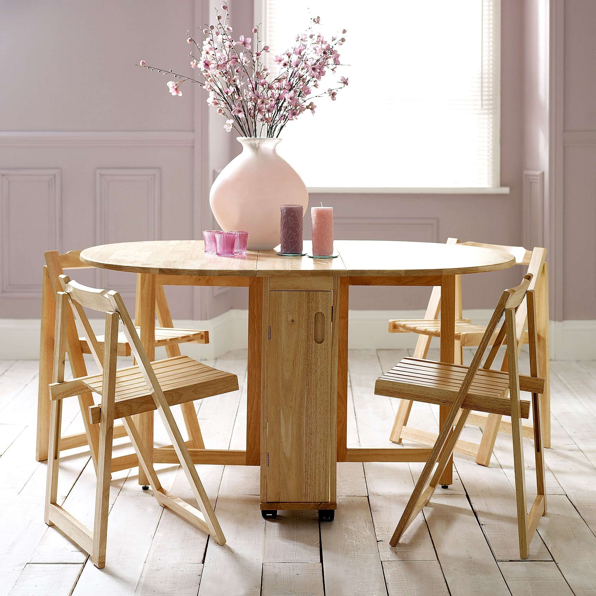 Most Recent Choose A Folding Dining Table For A Small Space – Adorable Home In Compact Folding Dining Tables And Chairs (View 14 of 25)