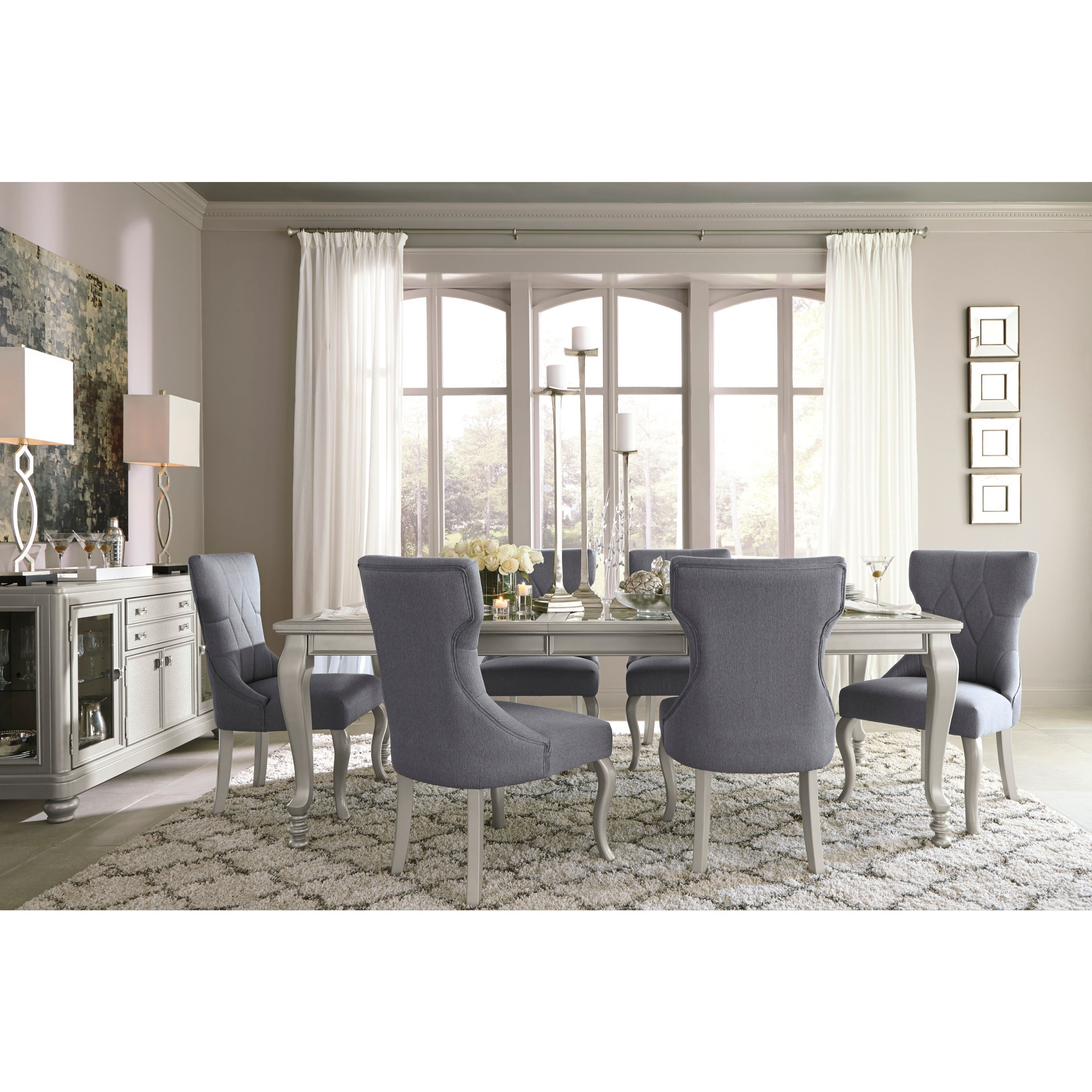 Most Recent Cora 5 Piece Dining Sets Pertaining To Shop Signature Designashley Coralayne Silver Dining Room Table (View 11 of 25)