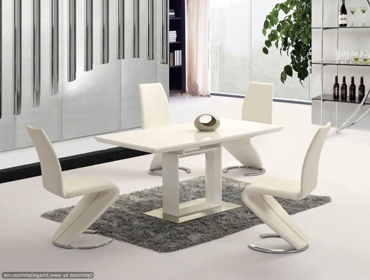 Most Recent Cream Gloss Dining Tables And Chairs For Cream Gloss Dining Table Set • Table Setting Design (View 9 of 25)