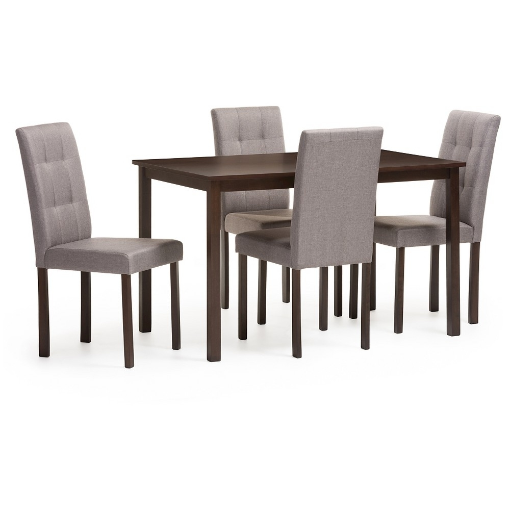 Most Recent Croley 5 Piece Dining Set For Jameson Grey 5 Piece Counter Sets (View 15 of 25)