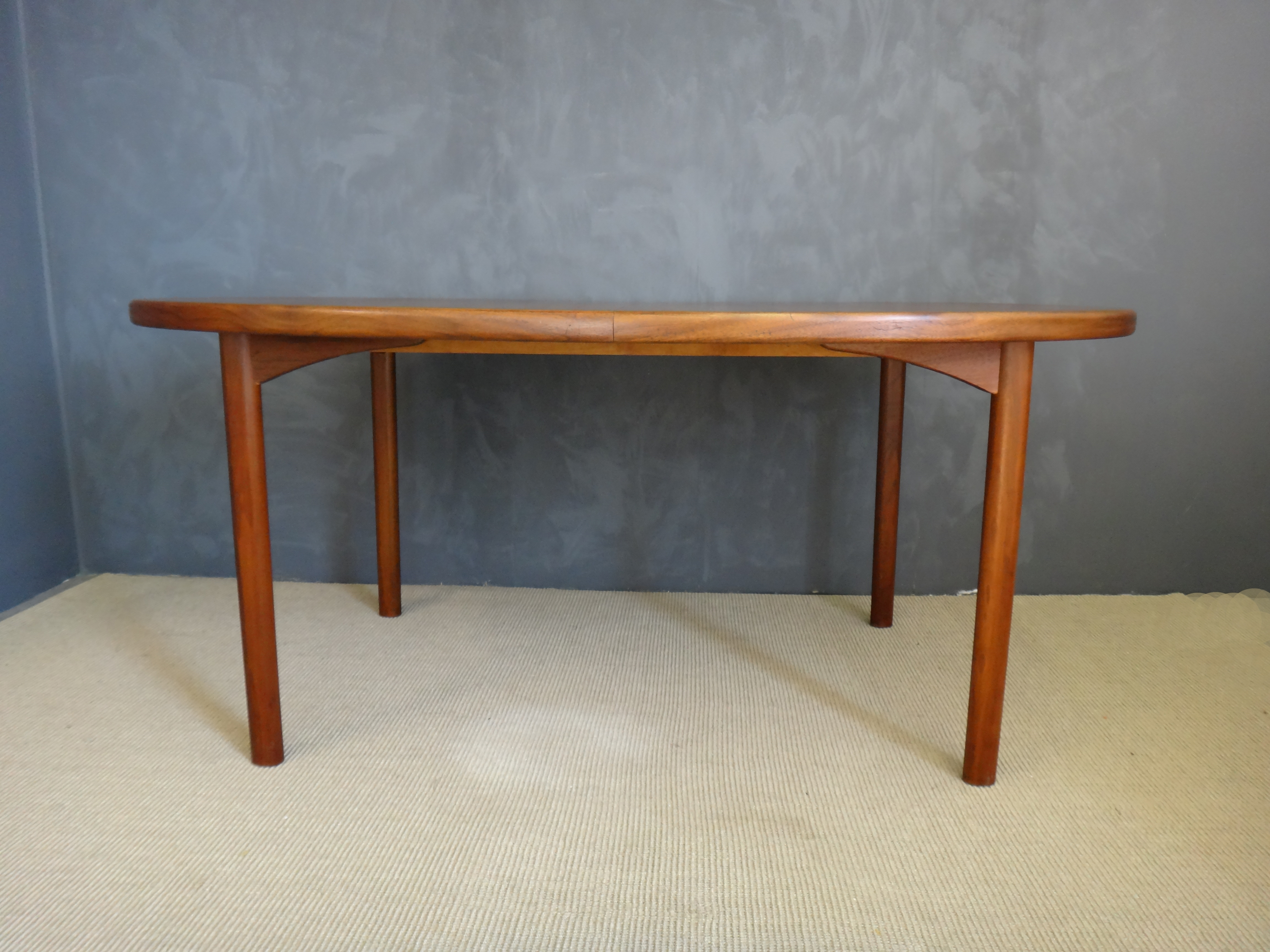 Most Recent Dux Danish Modern Teak Oval Dining Table – Retrocraft Design In Oval Dining Tables For Sale (View 21 of 25)