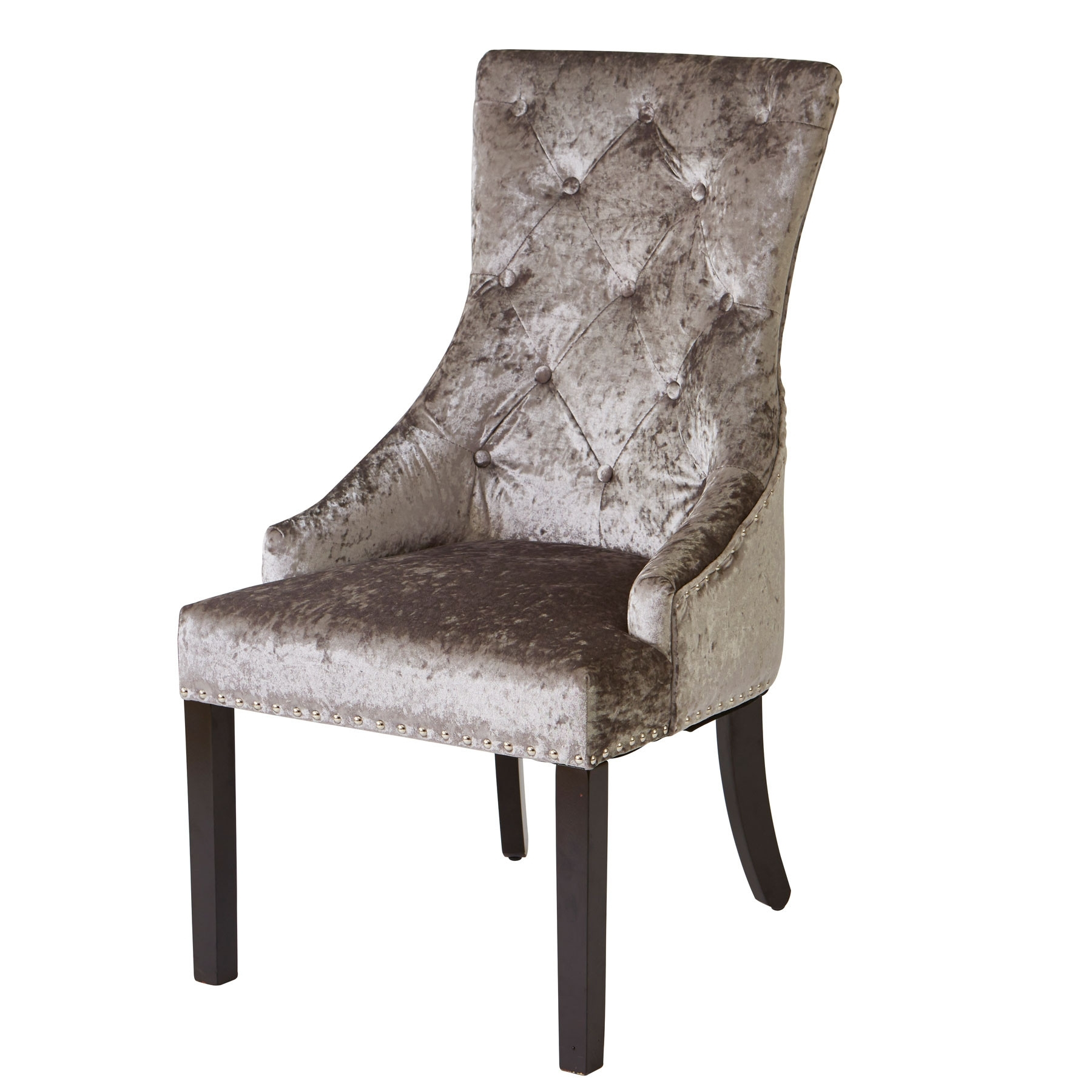 Most Recent Fabric Dining Chairs In Louis Silver Fabric Dining Chair With Knocker (View 19 of 25)