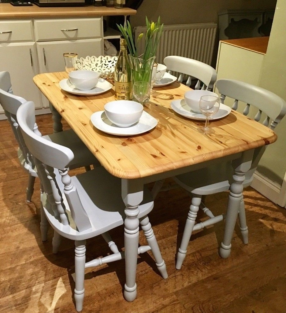 Most Recent Farmhouse / Country Dining Table & Chairs In Little Greene 'urbane Within Country Dining Tables (View 17 of 25)