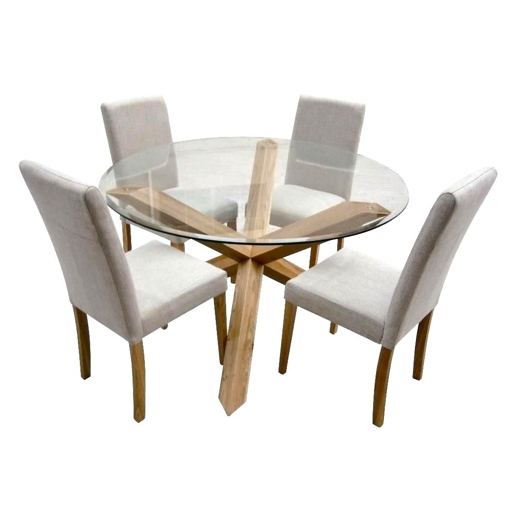 Most Recent Glass Dining Tables With Oak Legs With Regard To Fabulous Oak Glass Dining Tables Ideas Glass Dining Tables Ideas (View 14 of 25)