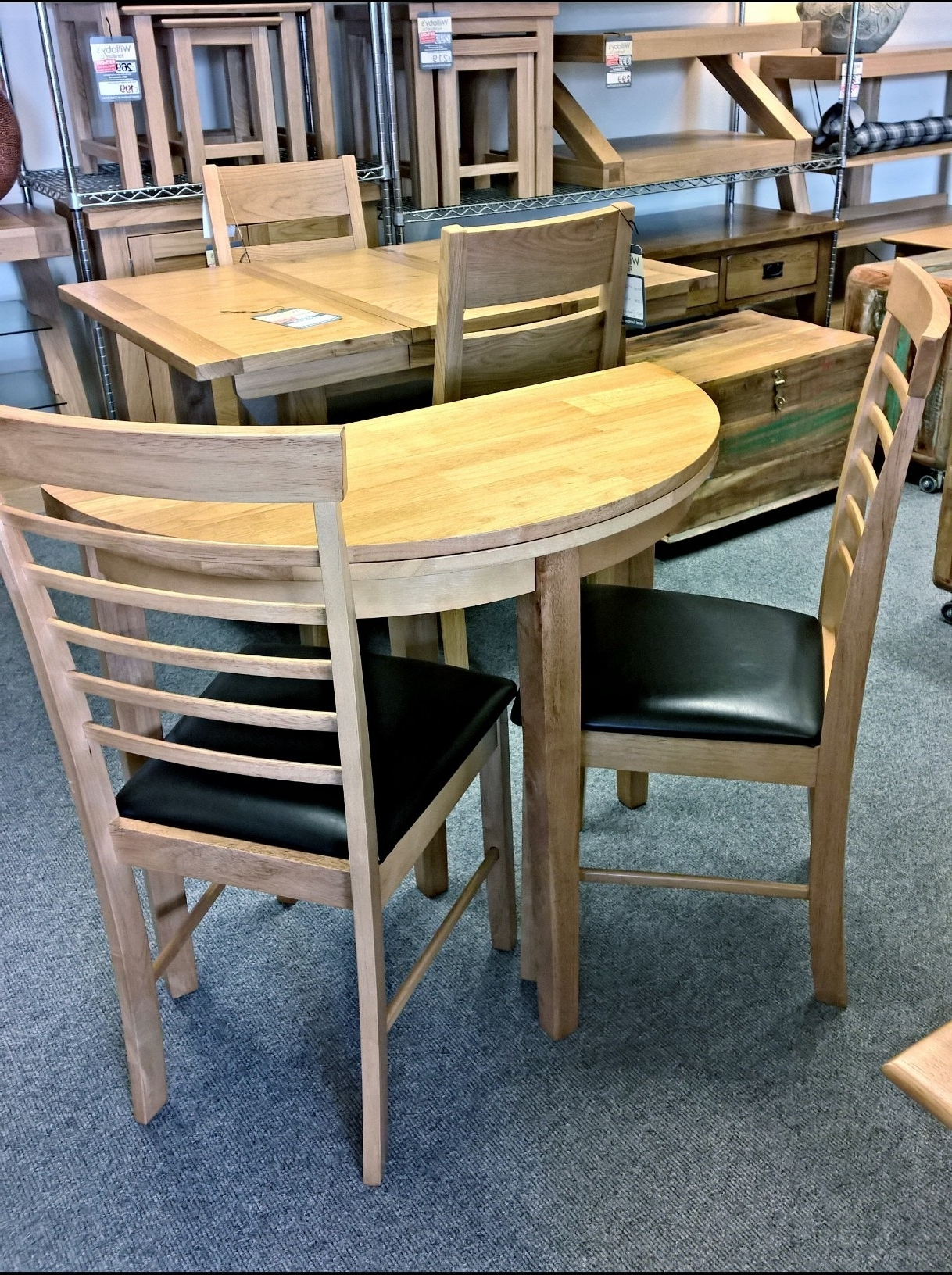 Featured Photo of Half Moon Dining Table Sets