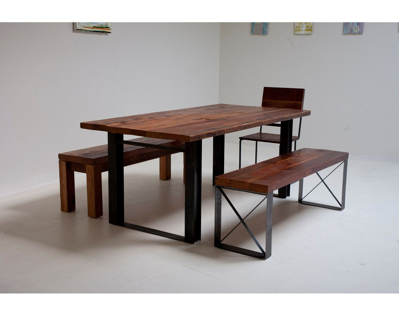 Most Recent Iron And Wood Dining Tables With Bold Modern Reclaimed Iron & Wood 'mt Whitney' Dining Table (View 12 of 25)