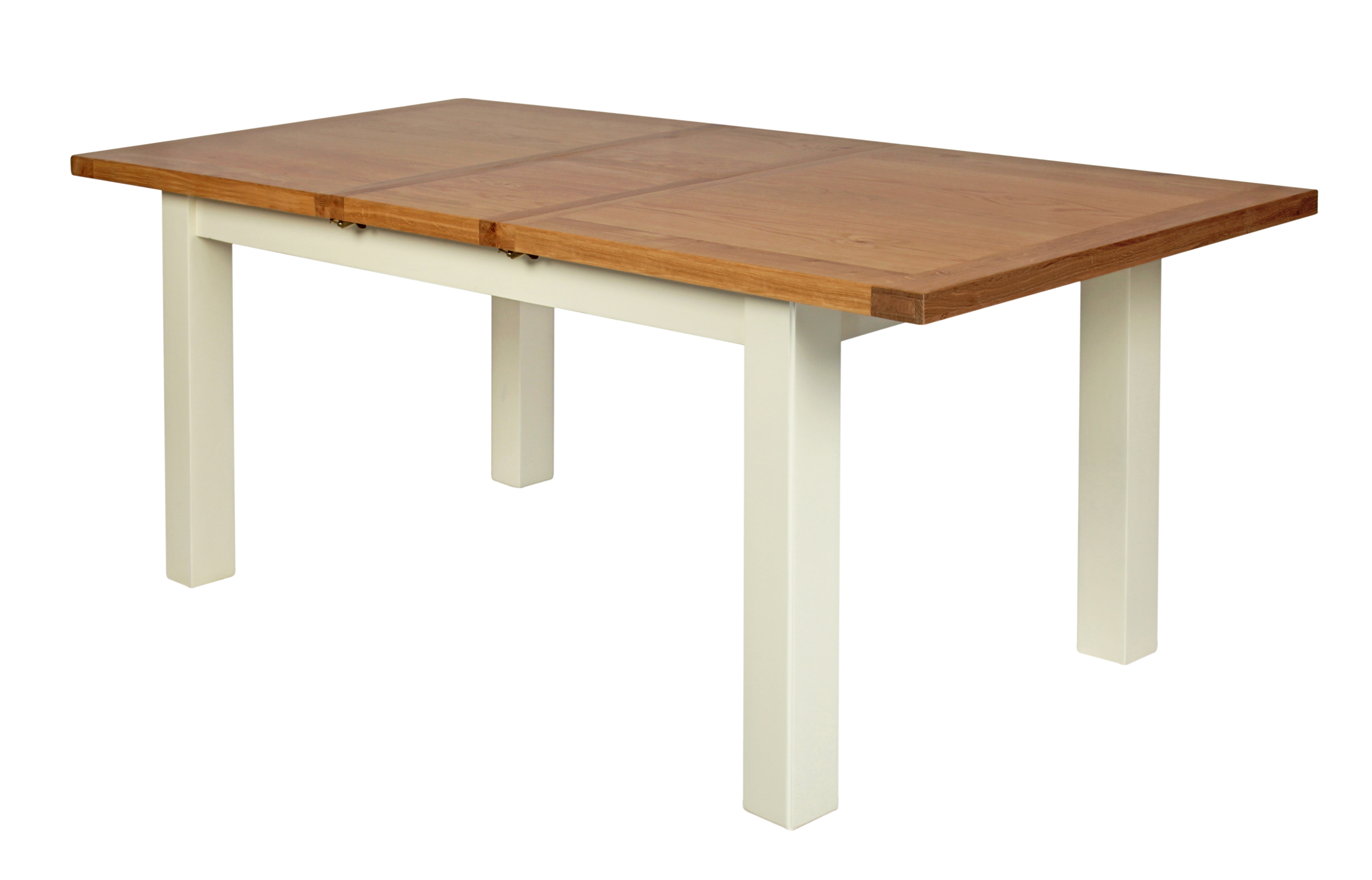 Most Recent Ivory Painted Oak Large Extending Dining Table With Butterfly For Ivory Painted Dining Tables (View 15 of 25)
