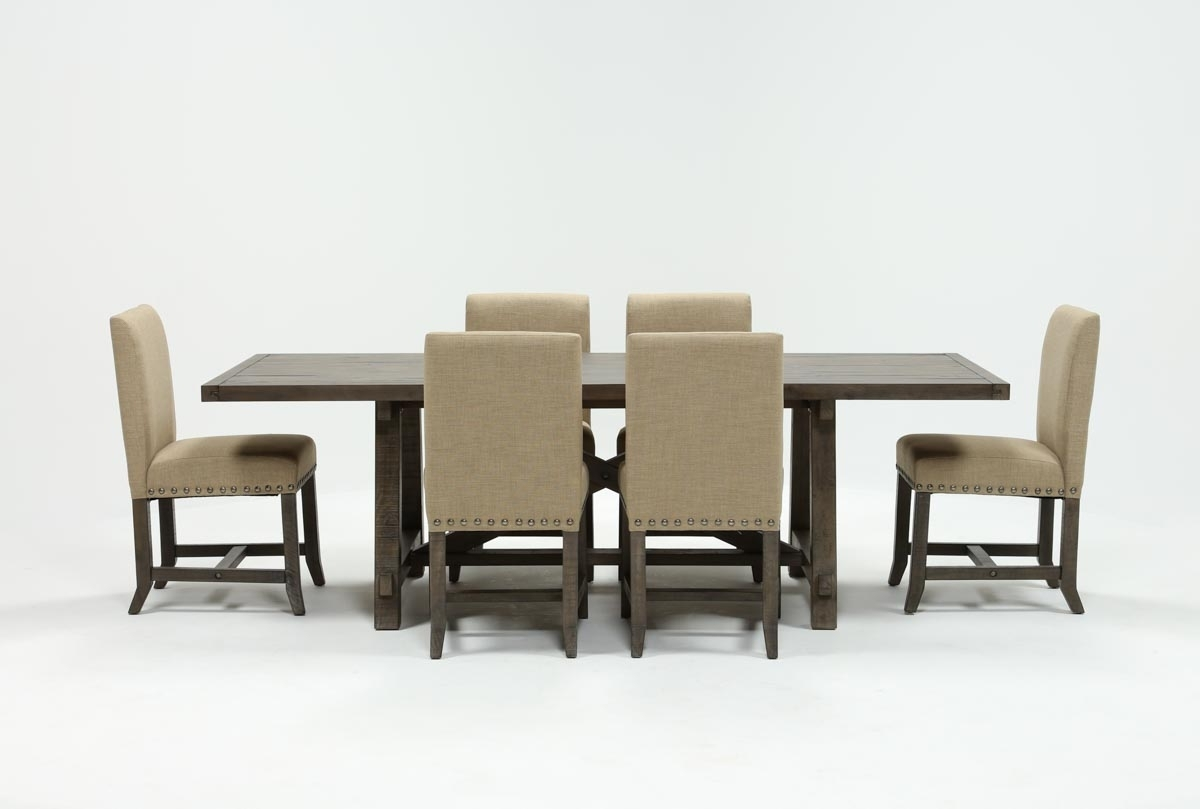 Most Recent Jaxon Grey 7 Piece Rectangle Extension Dining Sets With Uph Chairs With Regard To Jaxon Grey 7 Piece Rectangle Extension Dining Set W/uph Chairs (Gallery 1 of 25)