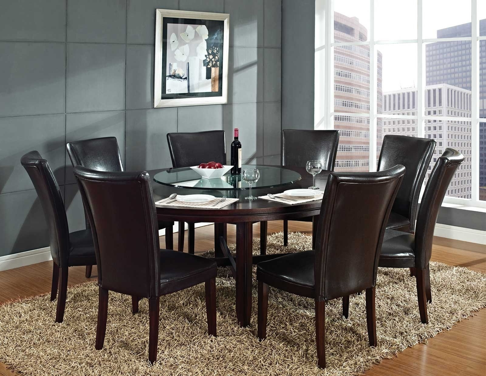 Most Recent Large Circular Dining Tables With Regard To Chairs Glass Glamorous Round For Set Circle Chair Dining Room And (View 18 of 25)