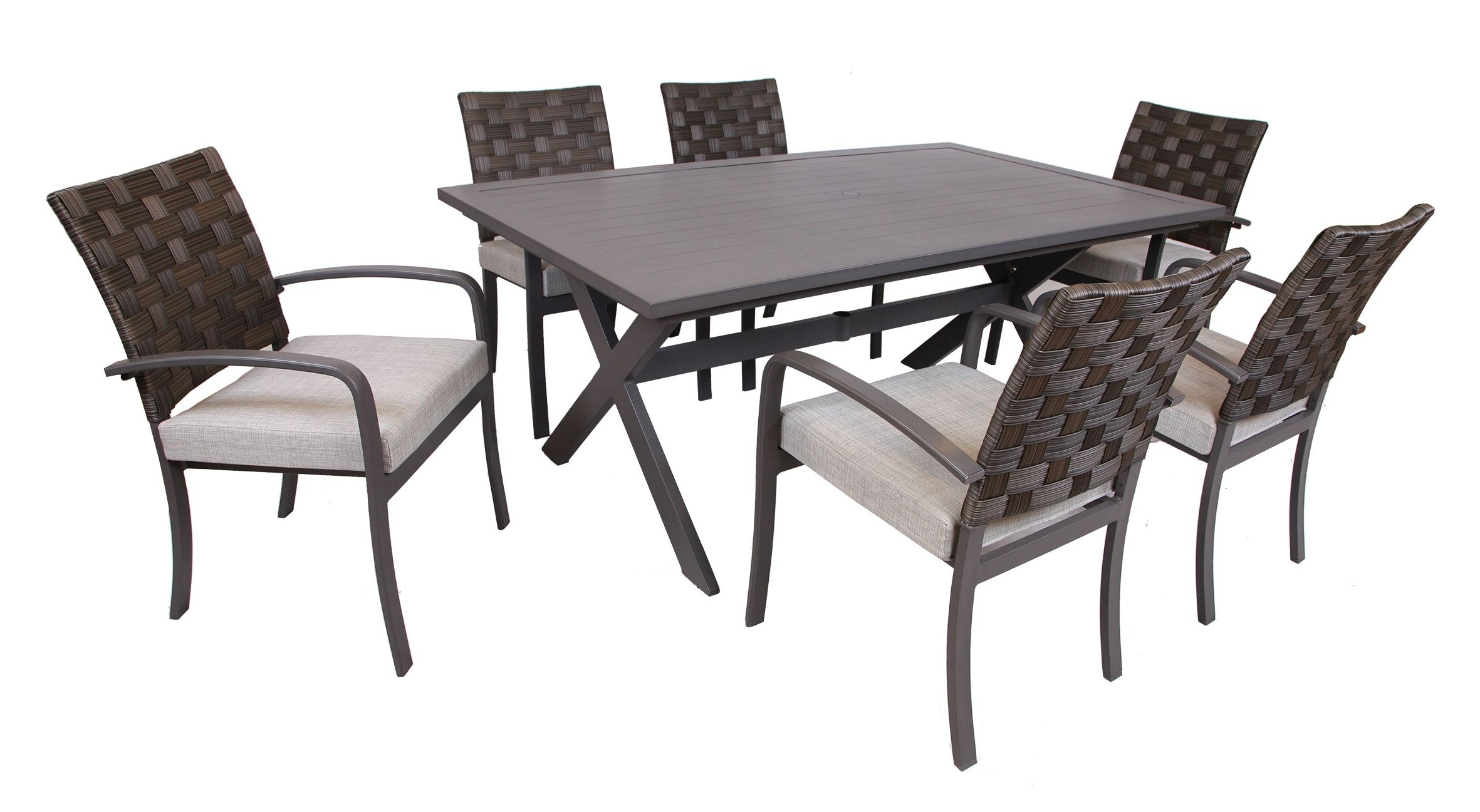 Most Recent Laurent 7 Piece Rectangle Dining Sets With Wood And Host Chairs Inside 3I Northtown 7 Pc (View 6 of 25)