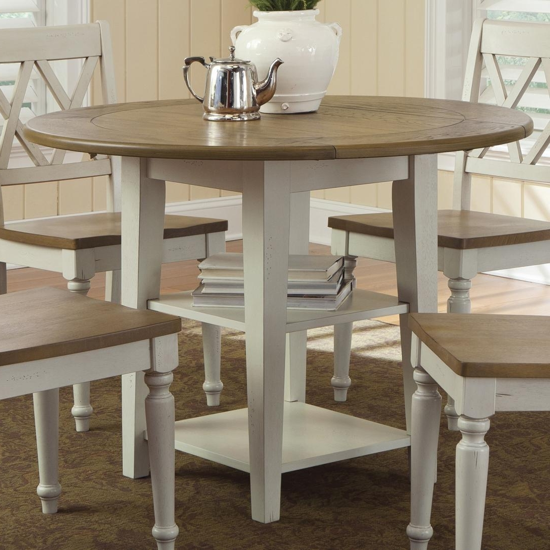 Most Recent Liberty Furniture Al Fresco Iii Round Drop Leaf Dining Leg Table Regarding Cheap Drop Leaf Dining Tables (View 15 of 25)